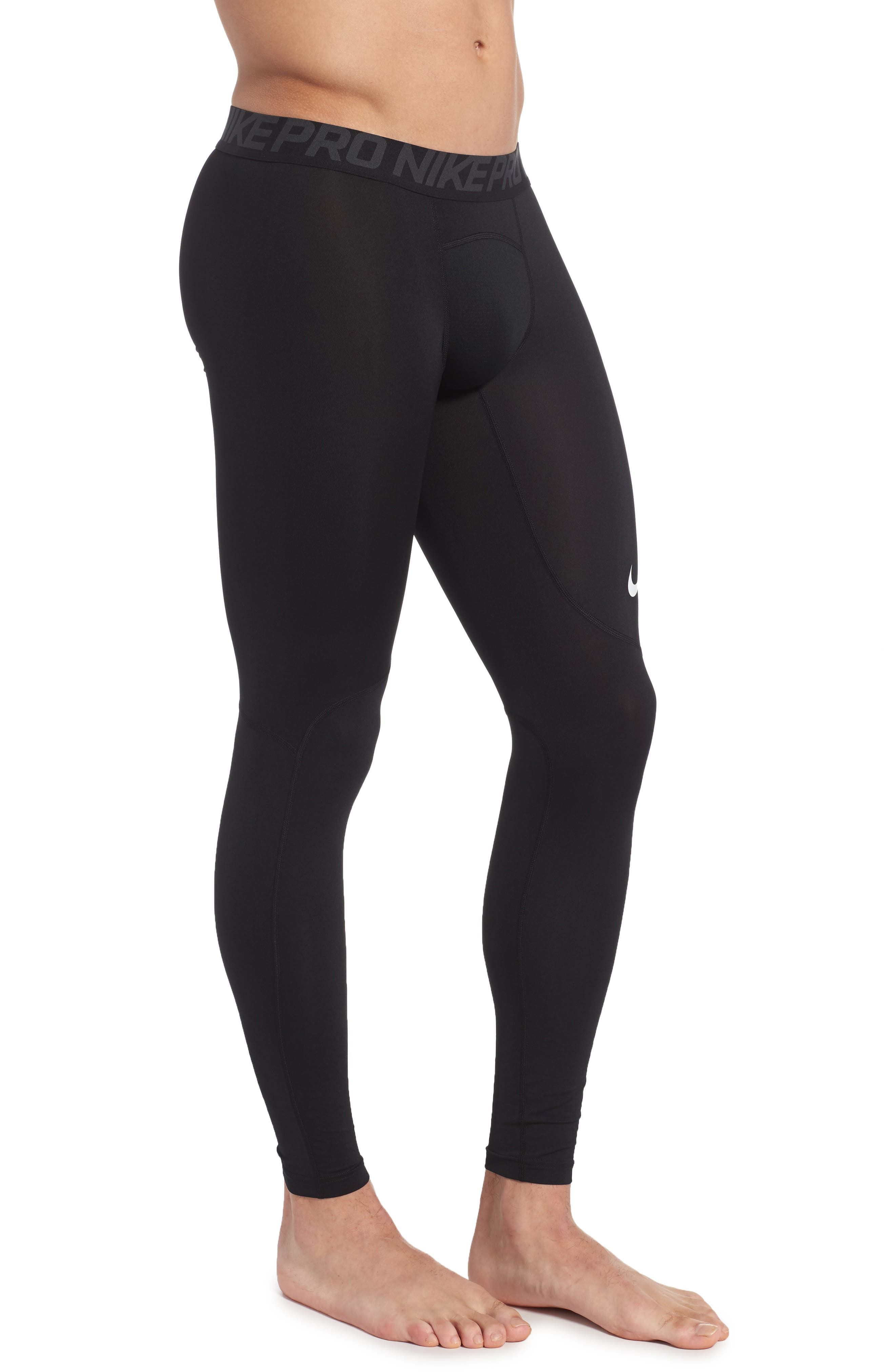 Pro Athletic Tights,                             Alternate thumbnail 3, color,                             Black/ Anthracite/ White