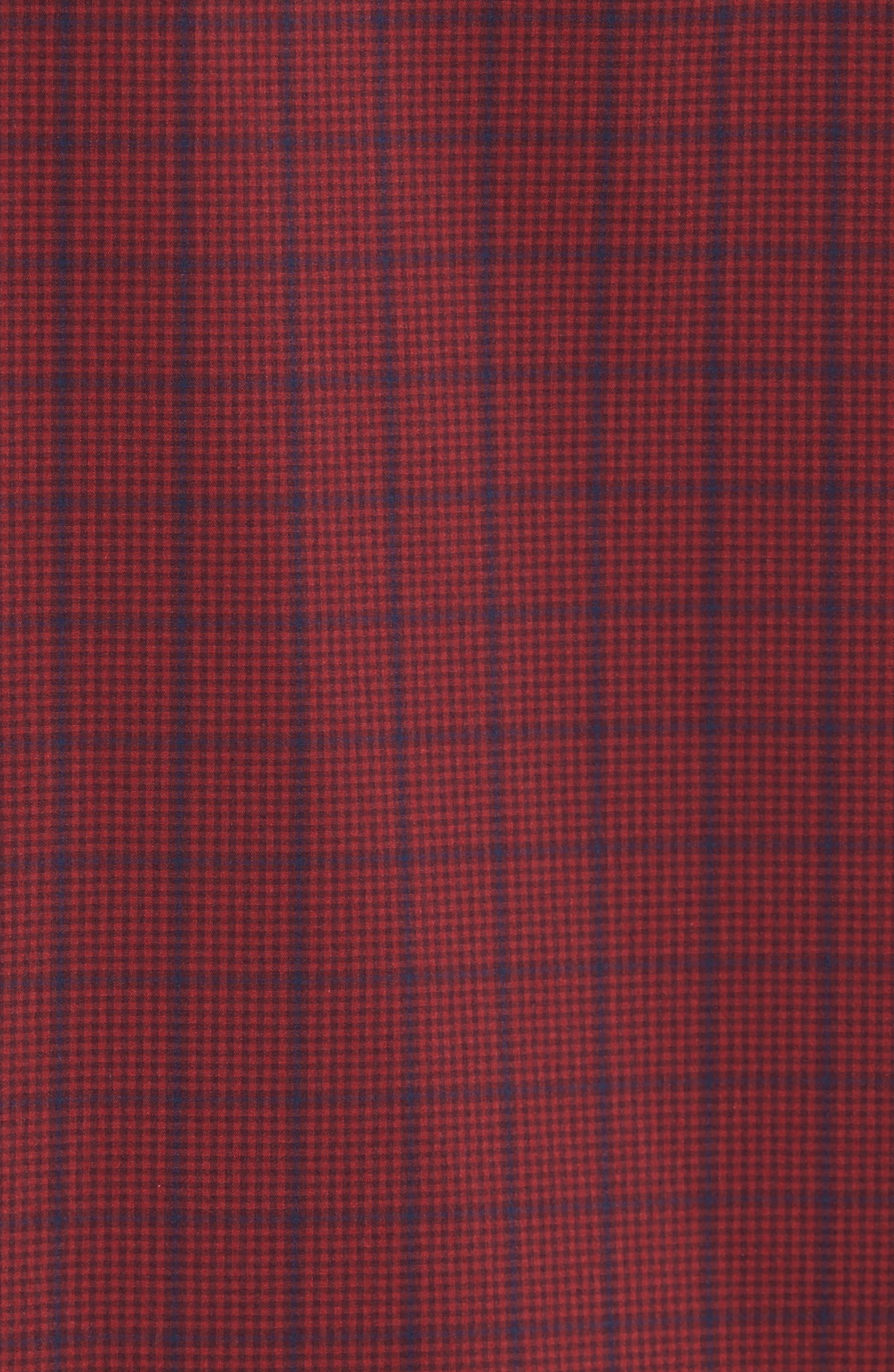 Spade Tech-Smart Plaid Sport Shirt,                             Alternate thumbnail 5, color,                             Burgundy Stem Grid Plaid