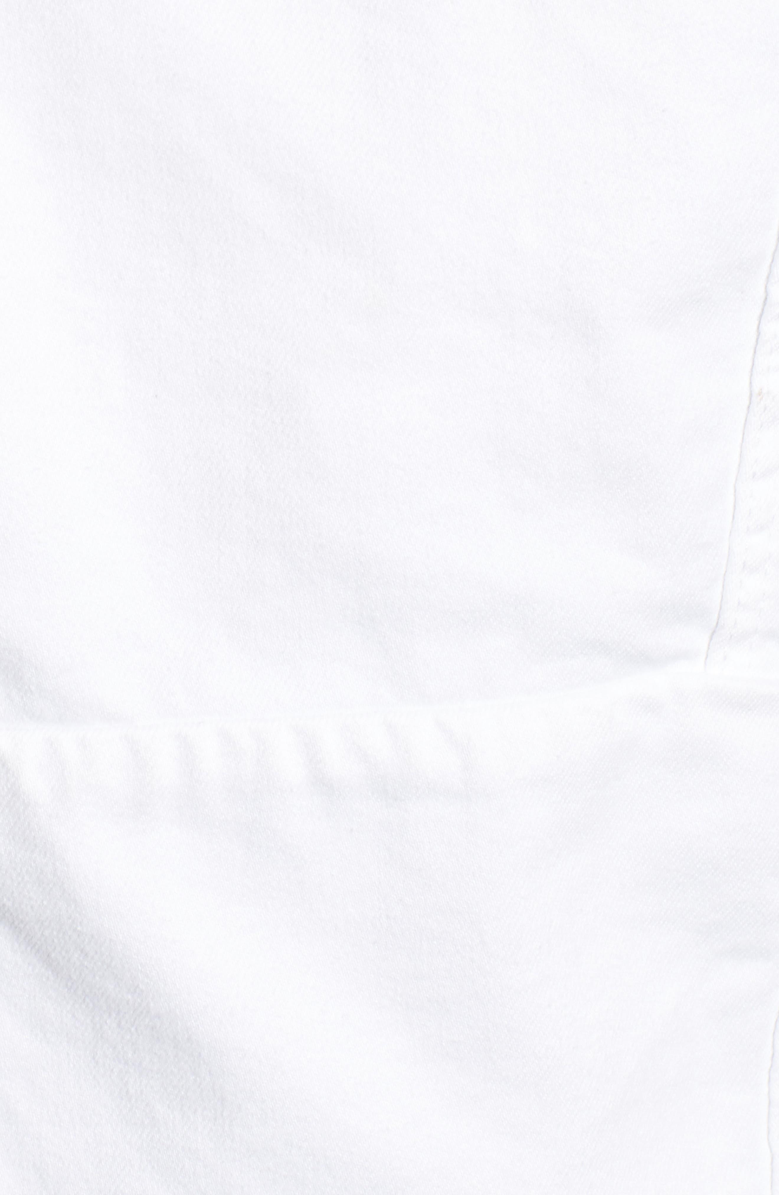Distressed Denim Jacket,                             Alternate thumbnail 5, color,                             Lightbox White