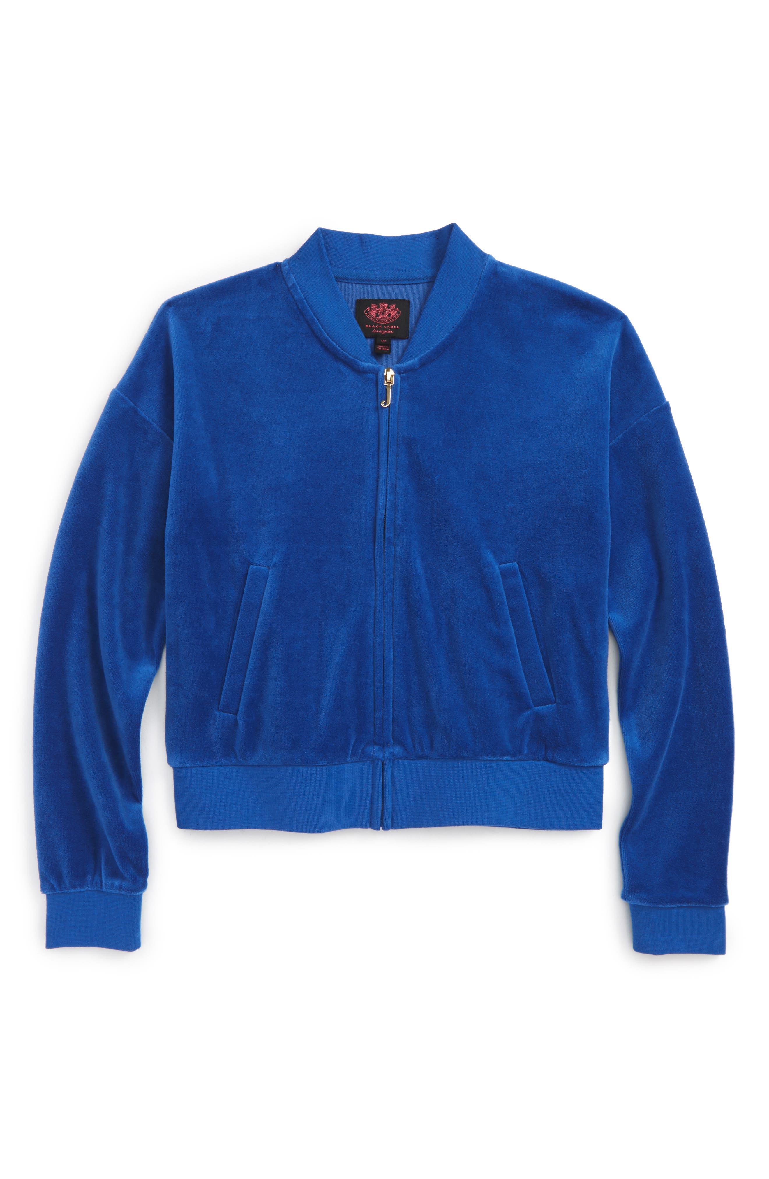 Floral Enchantment Track Jacket,                         Main,                         color, Blue Night