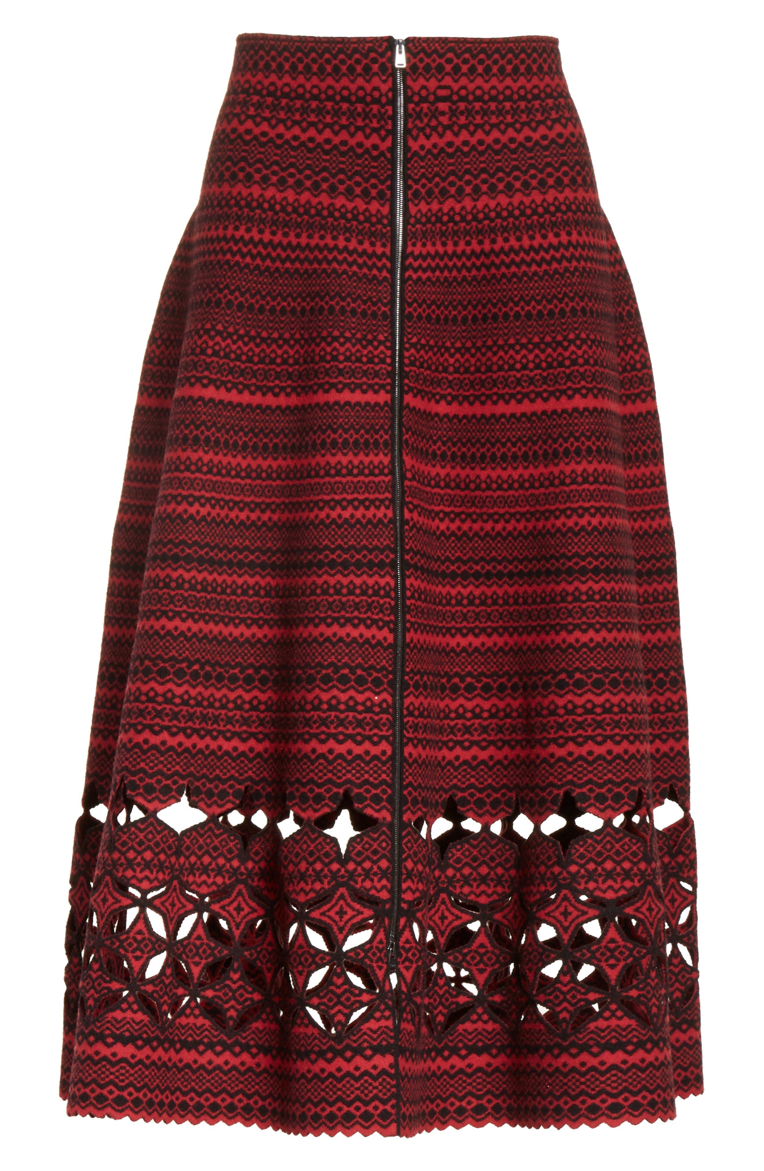 Alternate Image 6  - Fendi Fair Isle Wool Blend Skirt