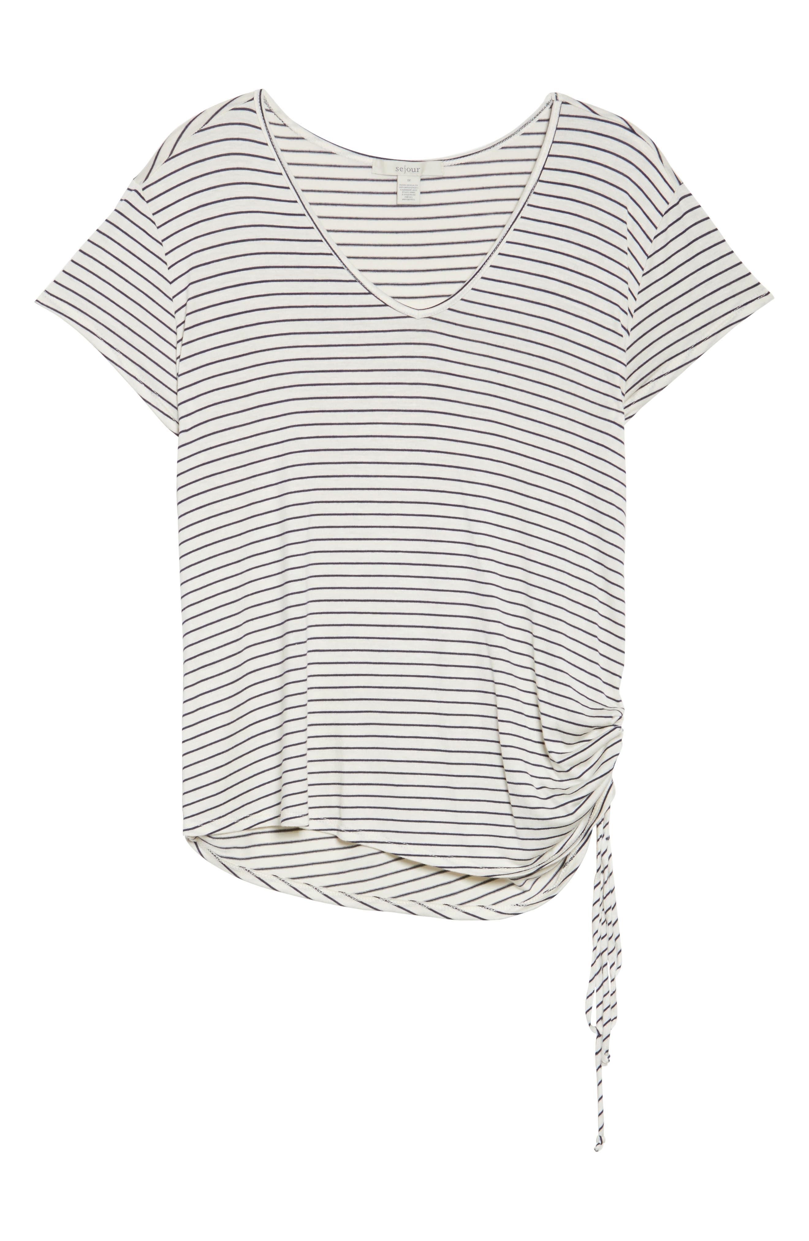 Alternate Image 6  - Sejour Drawstring Side V-Neck Top (Plus Size)