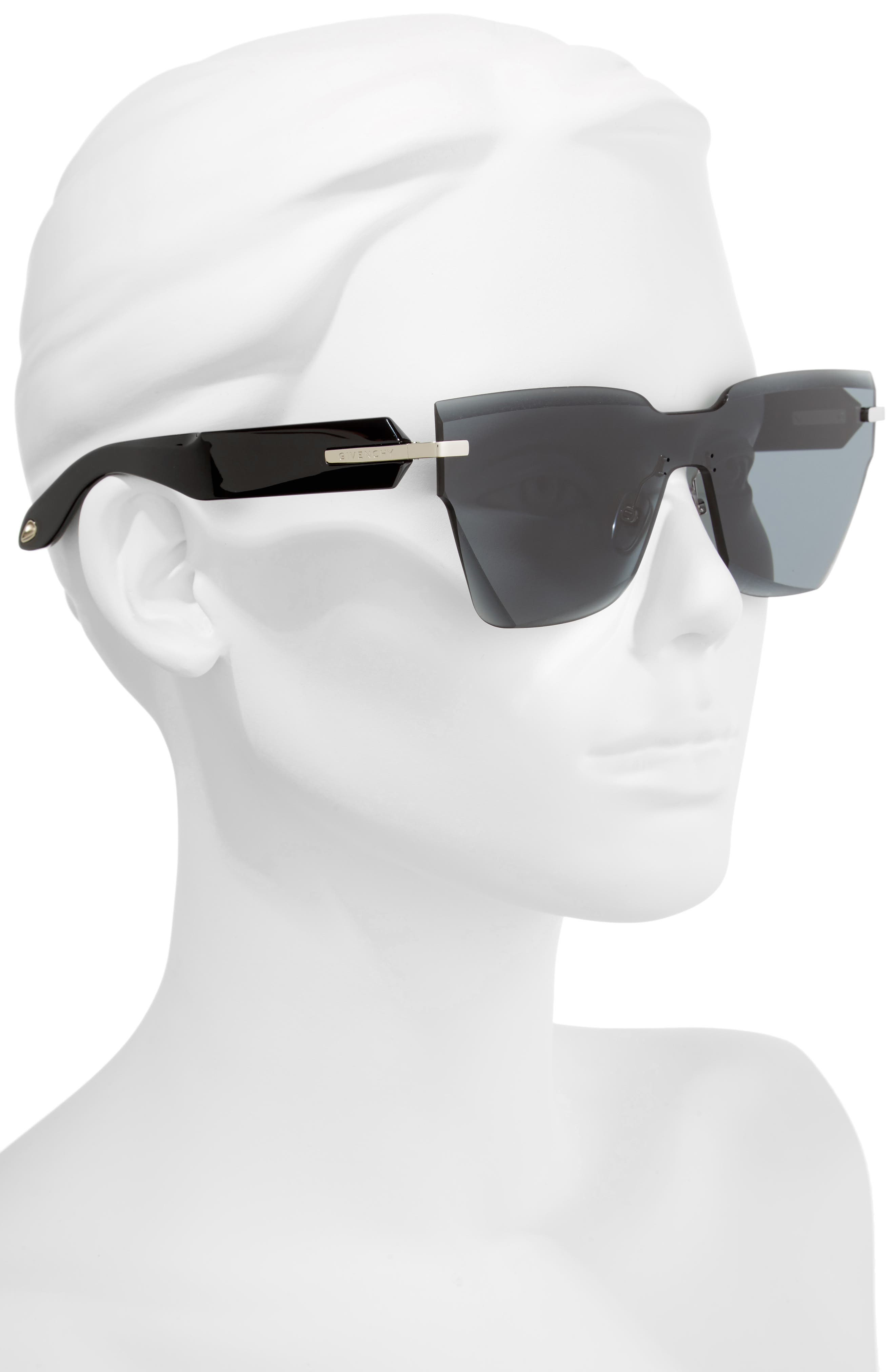 Alternate Image 2  - Givenchy 55mm Rimless Shield Sunglasses
