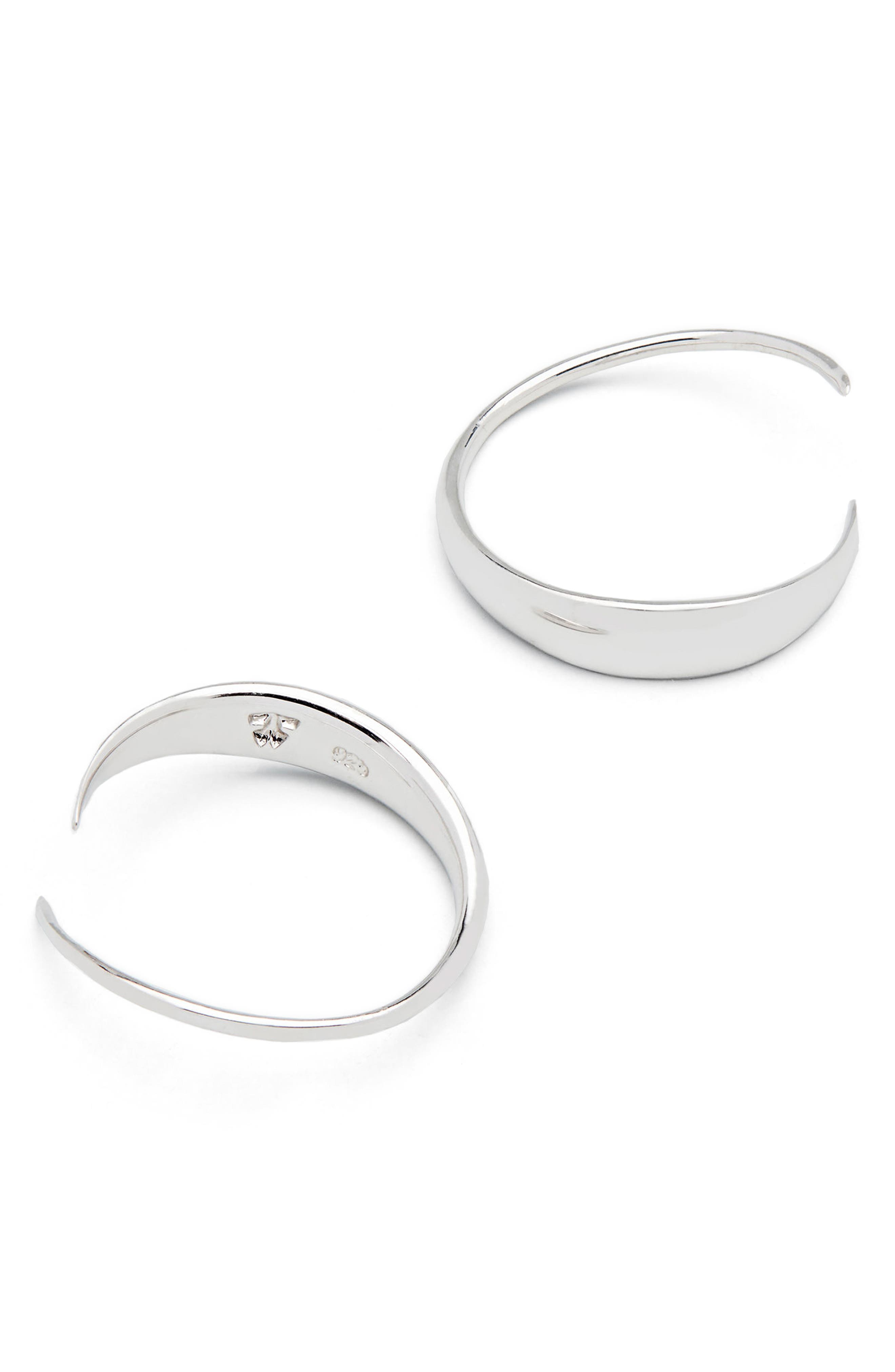 Ear Loop Earrings,                             Alternate thumbnail 3, color,                             925 Silver