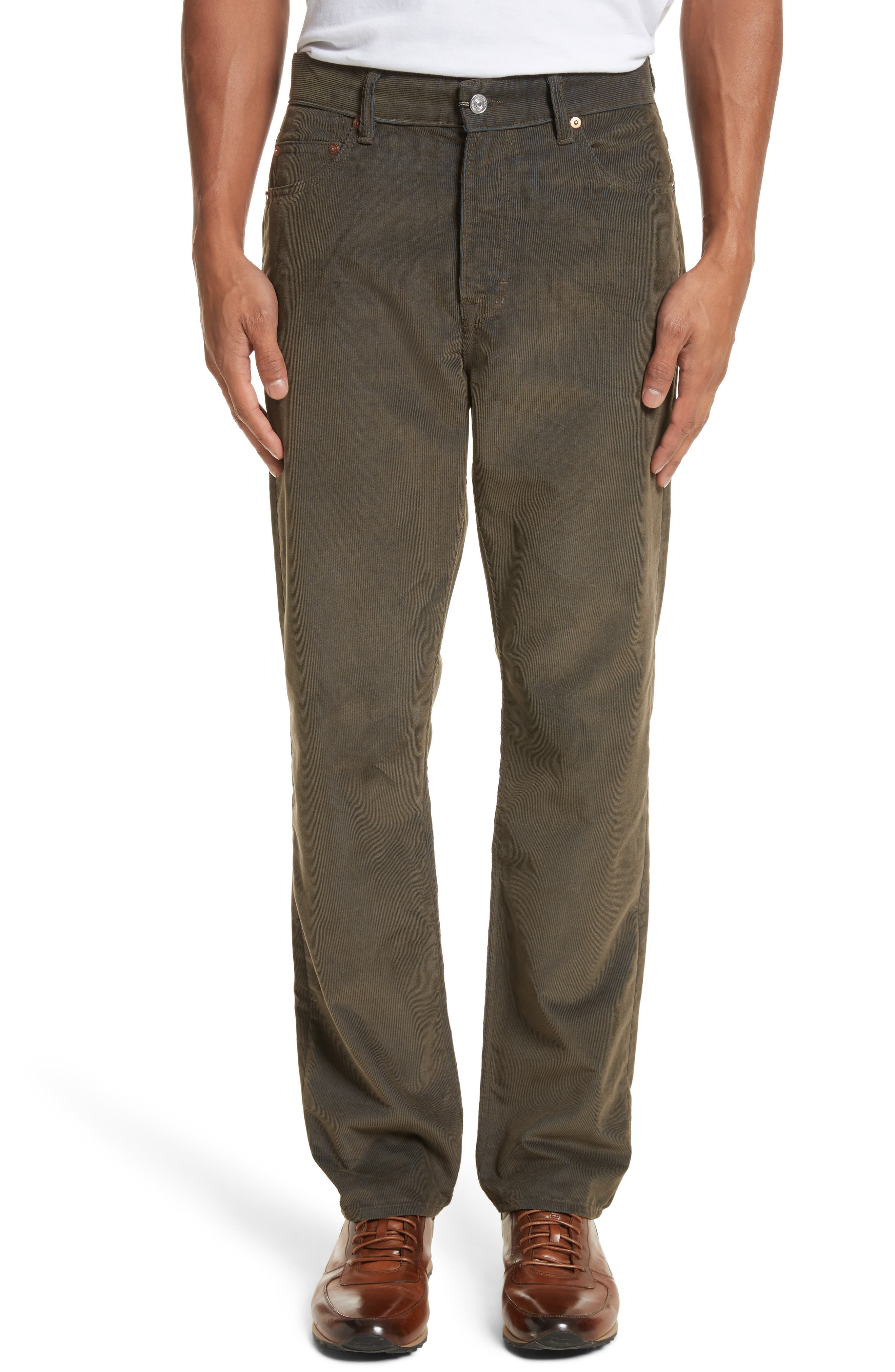 Second Cut Sludge Corduroy Pants,                         Main,                         color, Sludge Olive Corduroy