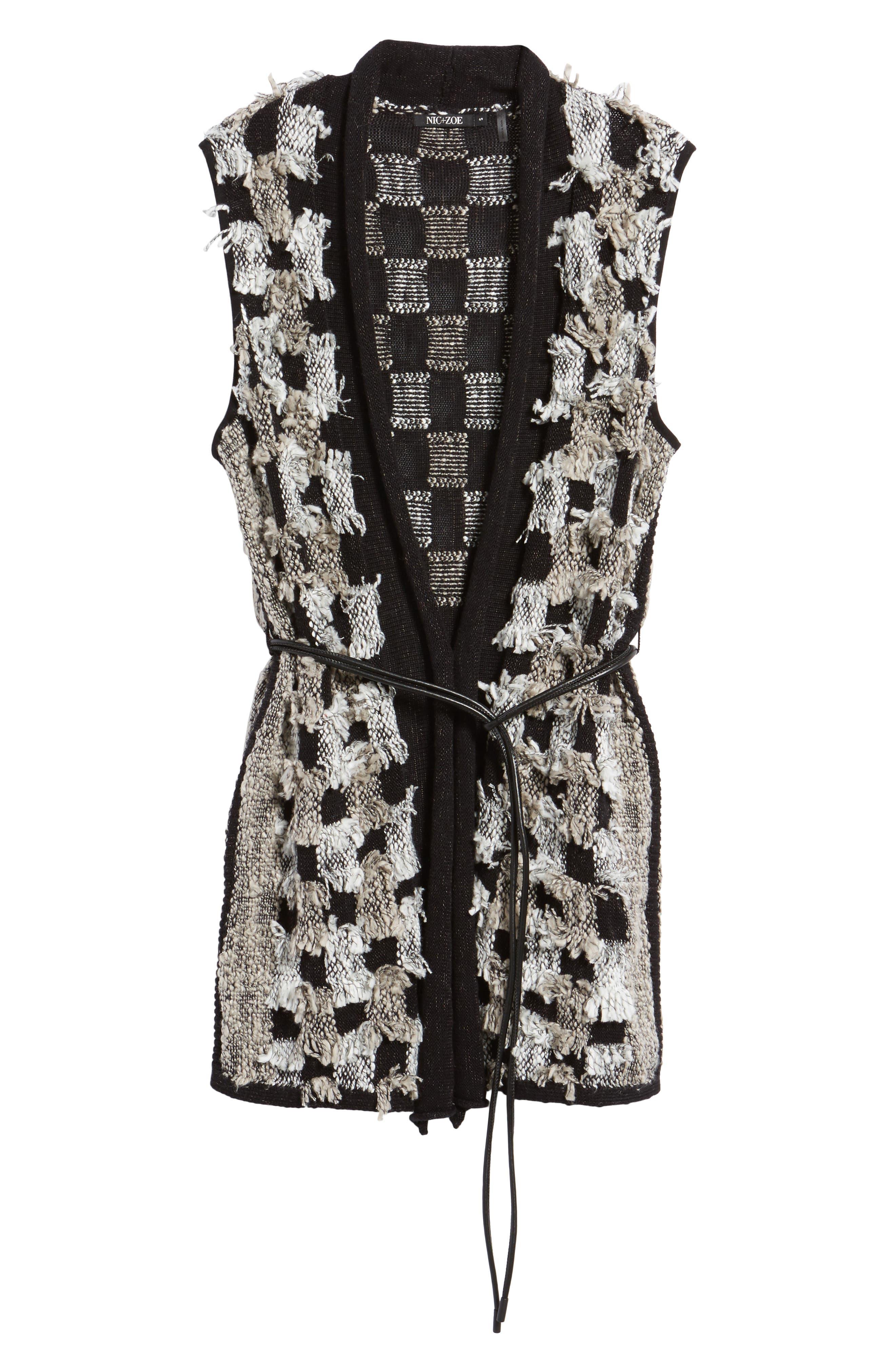 Blocked Out Vest,                             Alternate thumbnail 6, color,                             Black Multi
