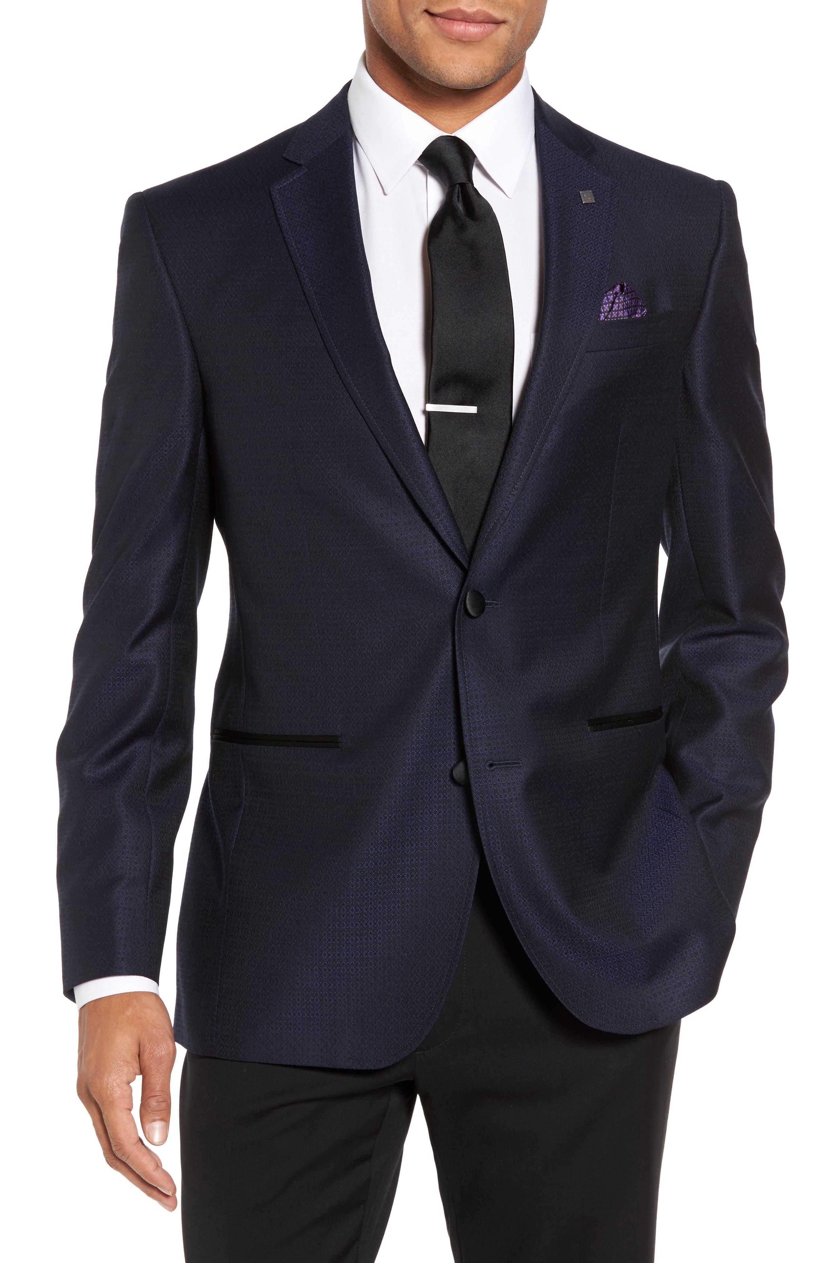 Jack Trim Fit Wool Dinner Jacket,                         Main,                         color, Blue