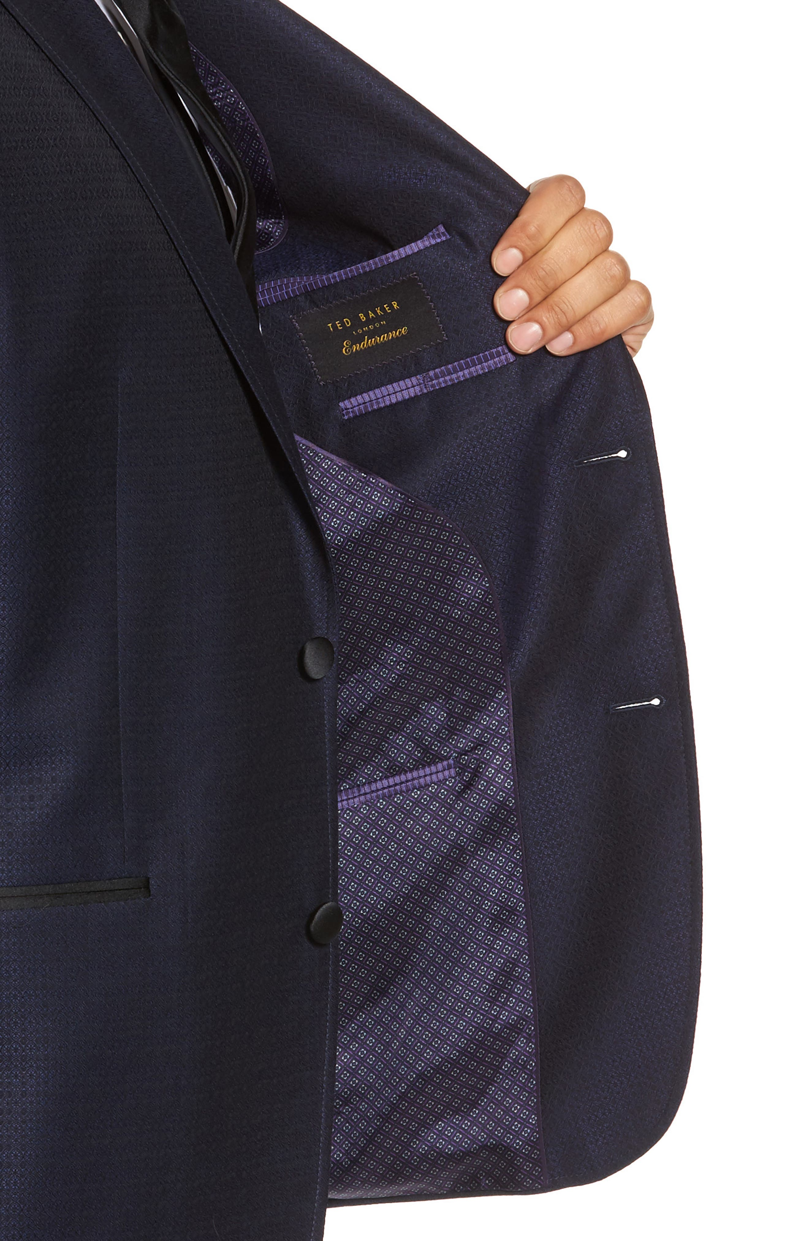 Alternate Image 4  - Ted Baker London Jack Trim Fit Wool Dinner Jacket
