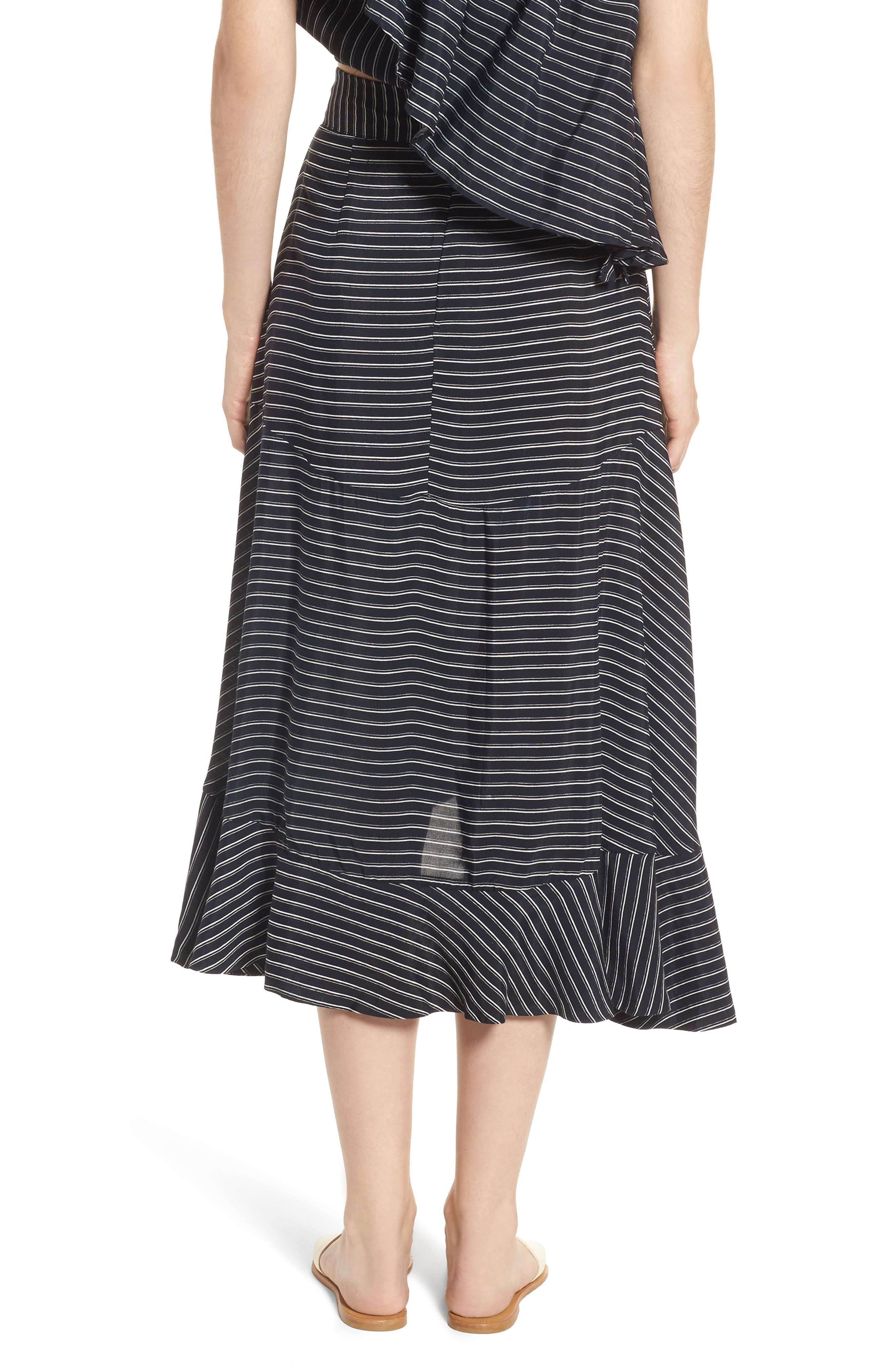 Kamares Ruffle Midi Skirt,                             Alternate thumbnail 2, color,                             San Cristobal Stripe Print
