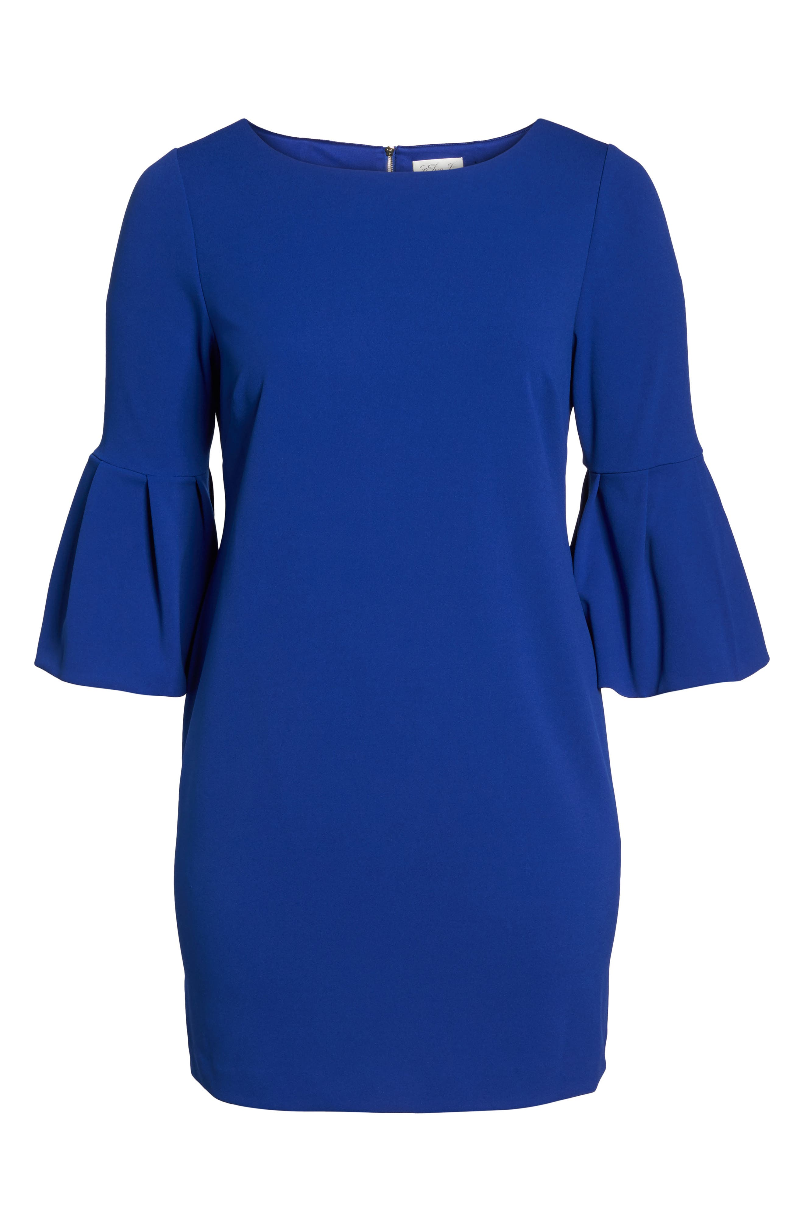 Bell Sleeve Shift Dress,                             Alternate thumbnail 6, color,                             Royal