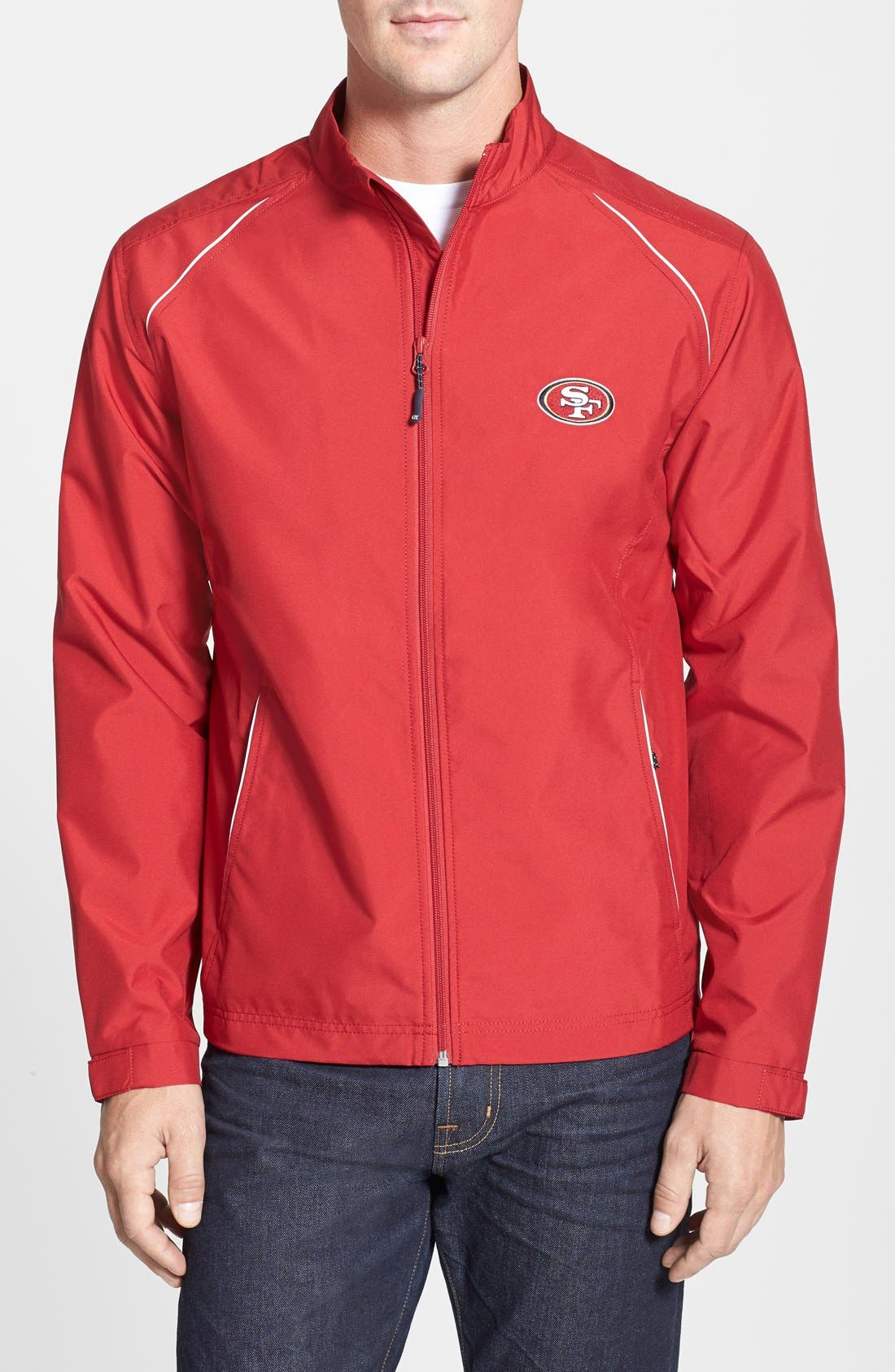 San Francisco 49ers - Beacon WeatherTec Wind & Water Resistant Jacket,                         Main,                         color, Cardinal Red