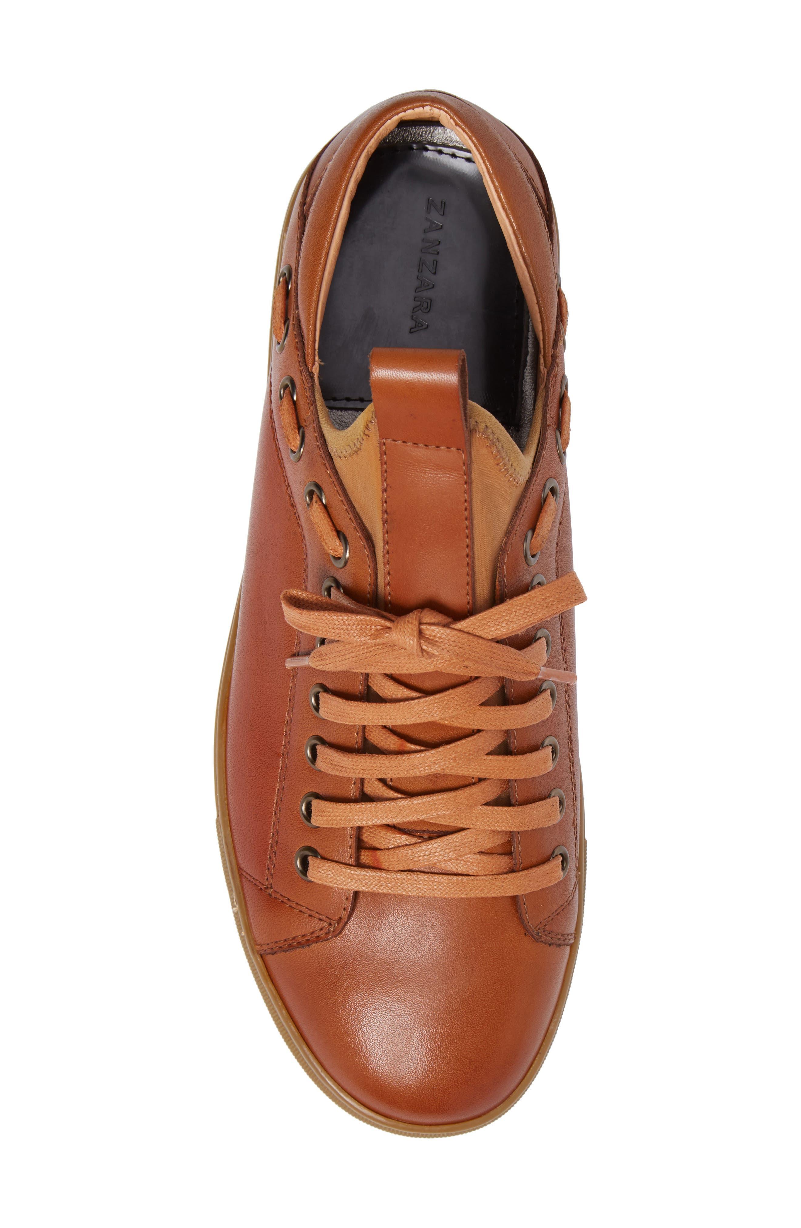 Owen Sneaker,                             Alternate thumbnail 5, color,                             Cognac Leather