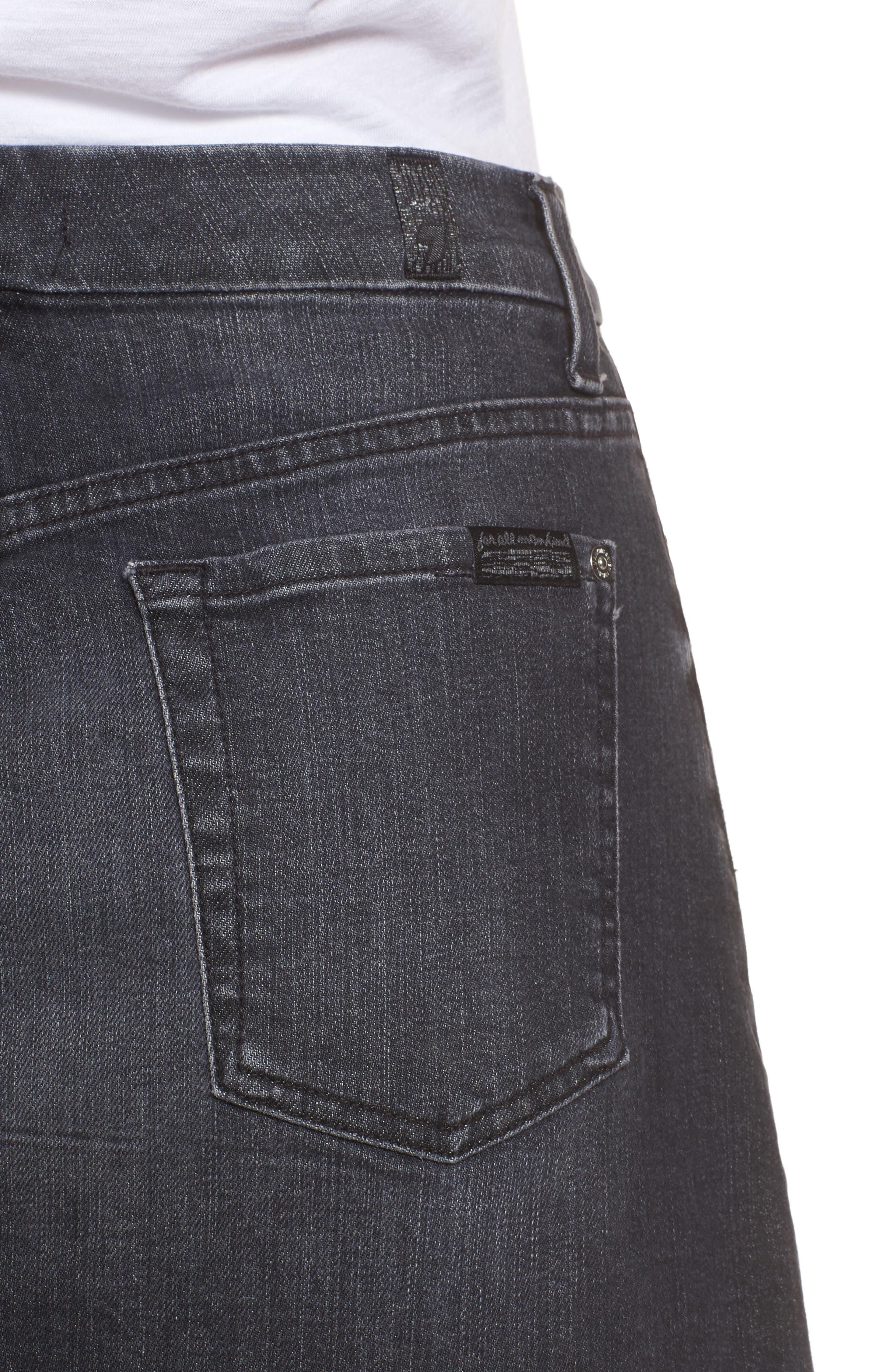Alternate Image 4  - 7 For All Mankind® Denim Miniskirt