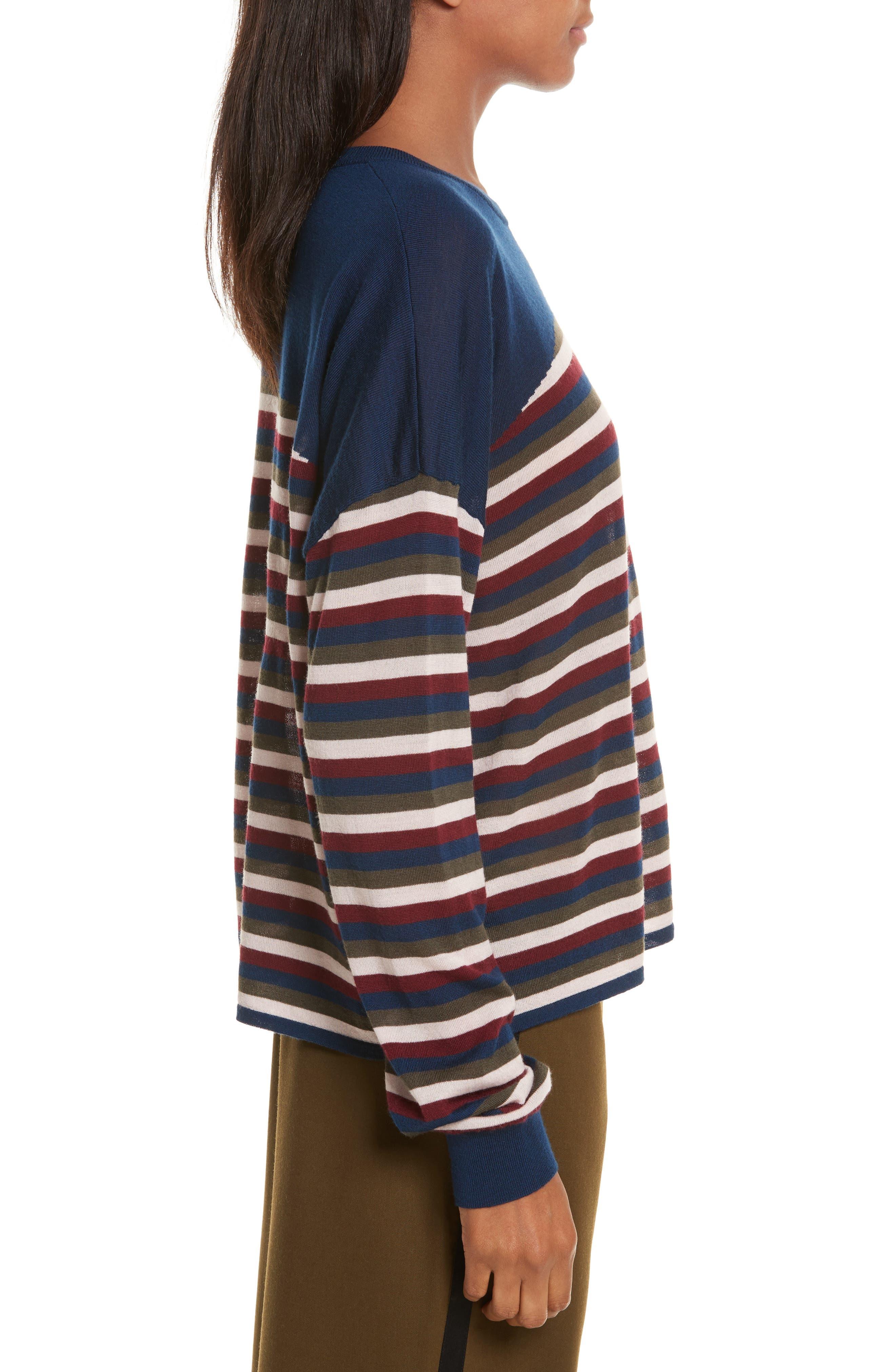 Alternate Image 4  - GREY Jason Wu Stripe Knit Pullover
