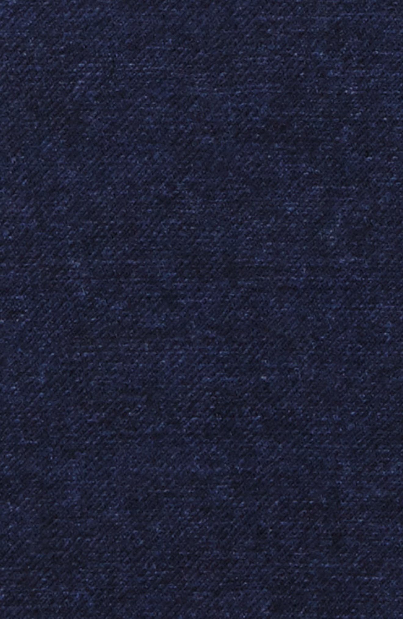 Flannel Wool Pocket Square,                             Alternate thumbnail 3, color,                             Blue