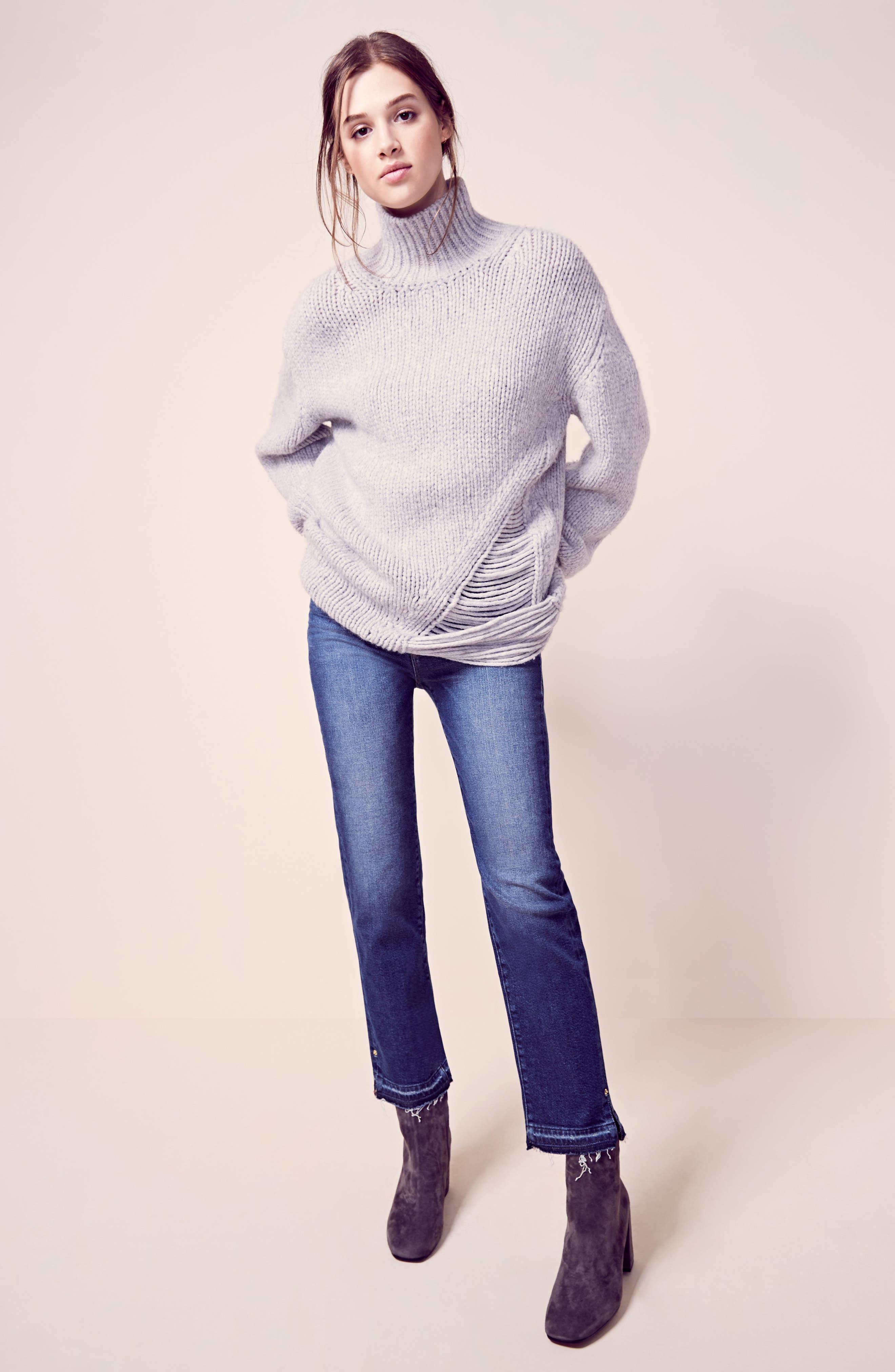 Alternate Image 2  - FRAME High Waist Released Hem Crop Jeans (Granby)
