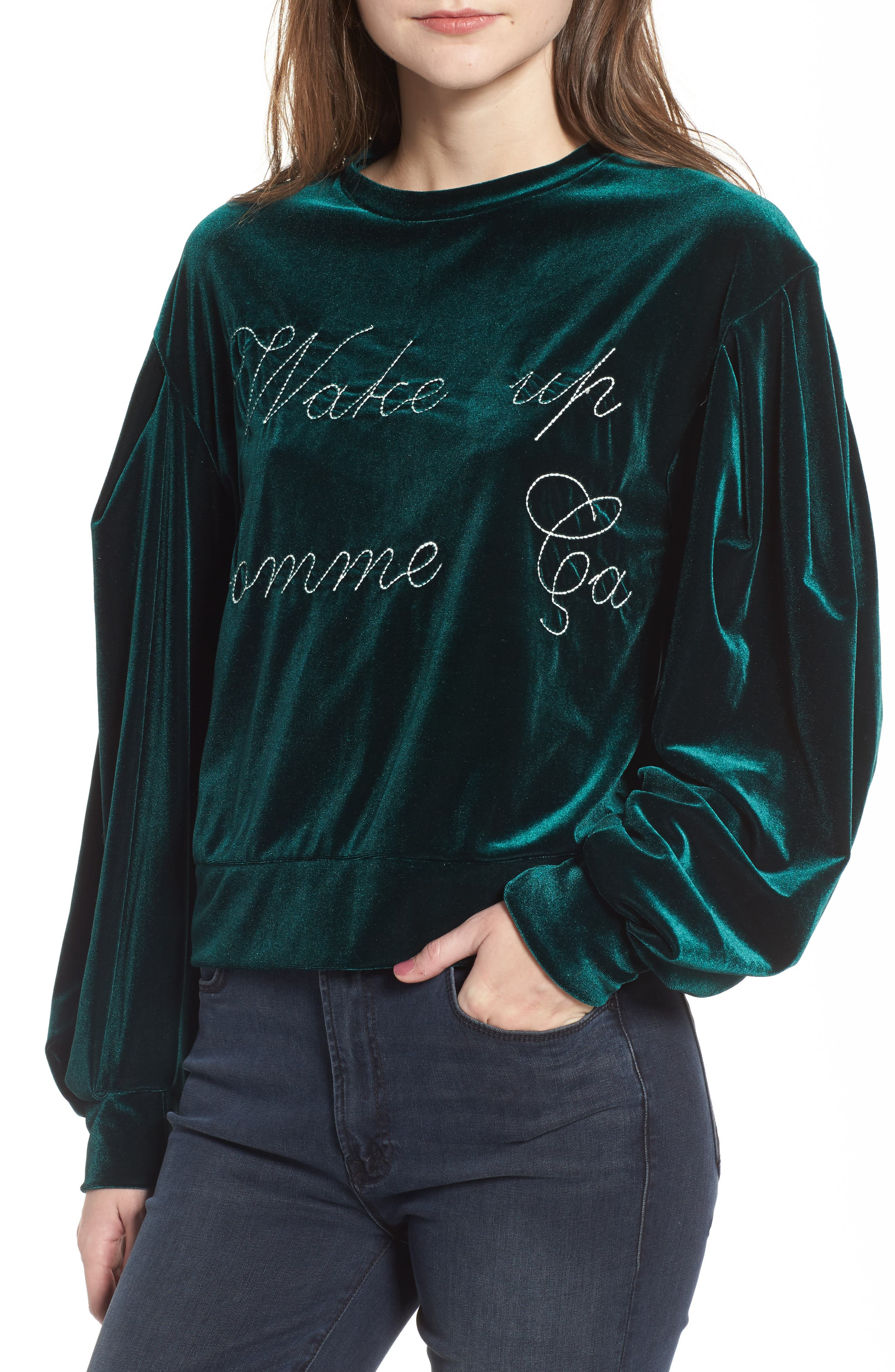 MISA Los Angeles Comme Ca Velvet Sweatshirt