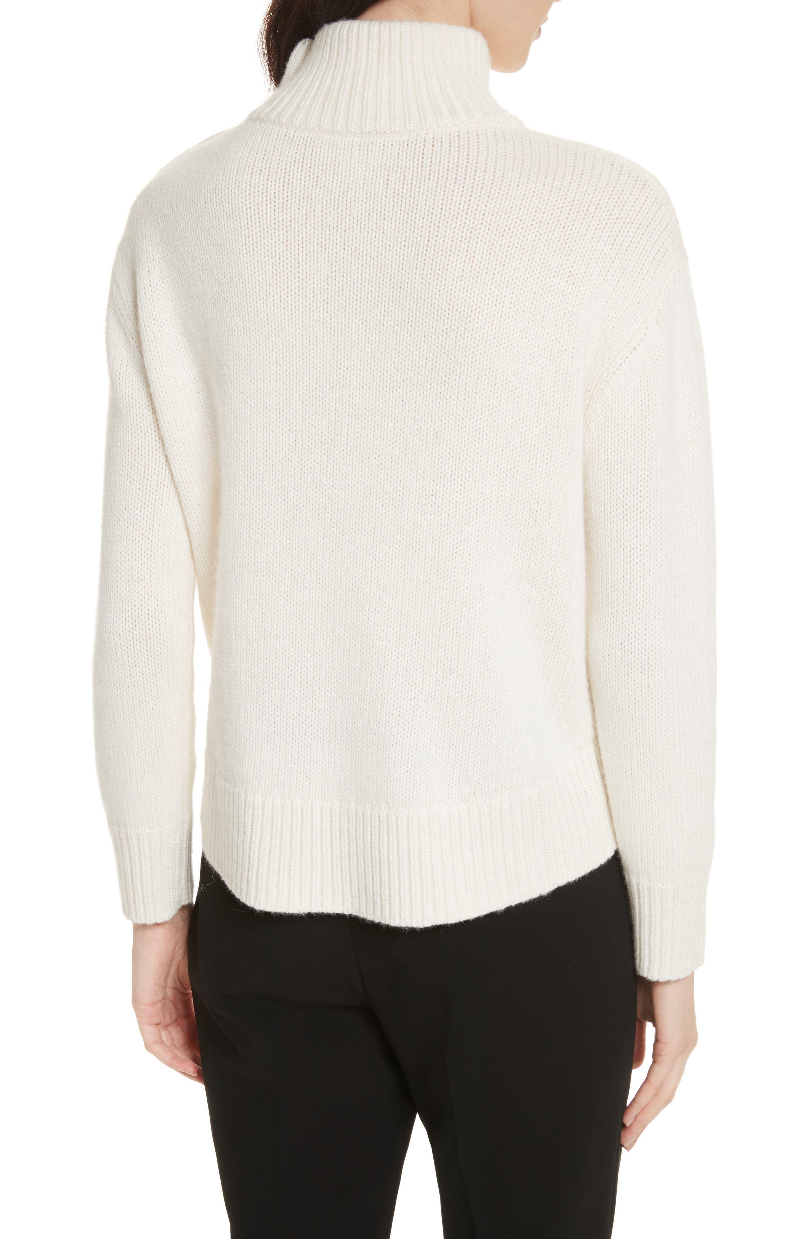 star turtleneck sweater,                             Alternate thumbnail 4, color,                             Cream/ Navy