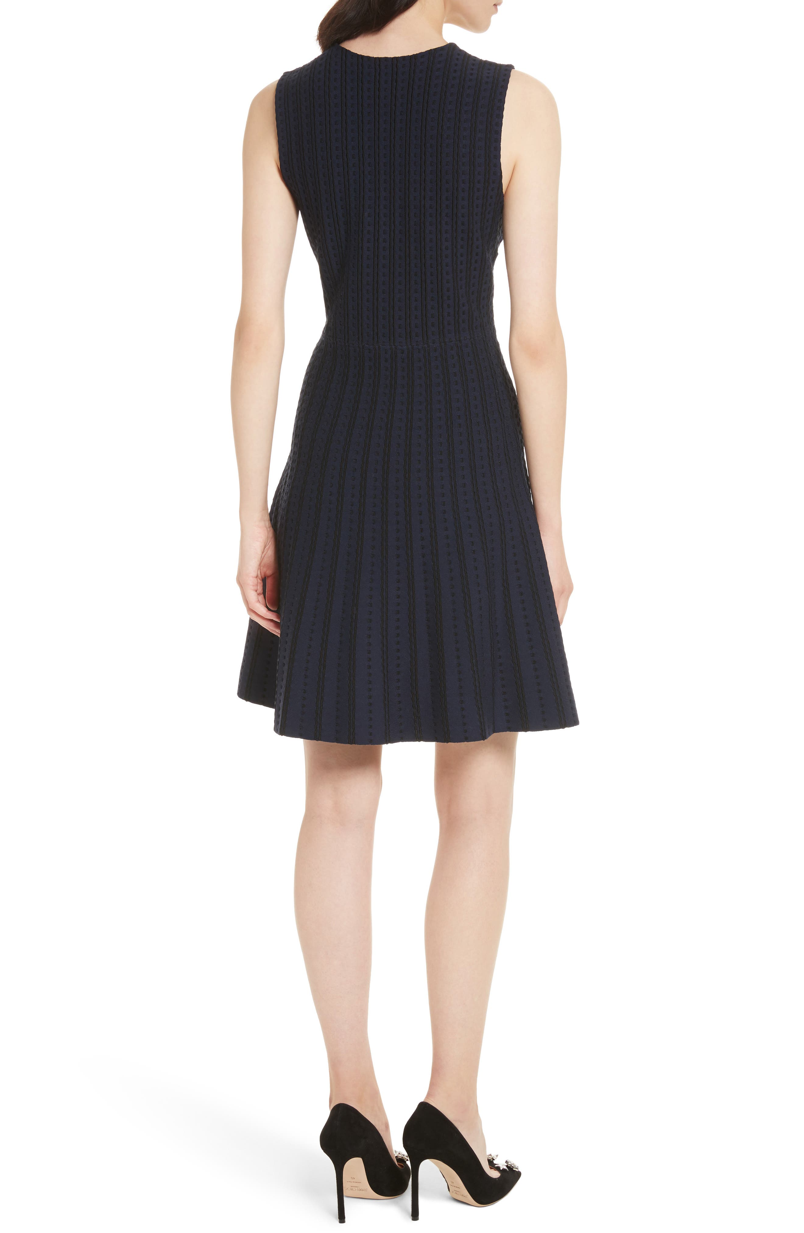 textured sweater dress,                             Alternate thumbnail 2, color,                             Rich Navy