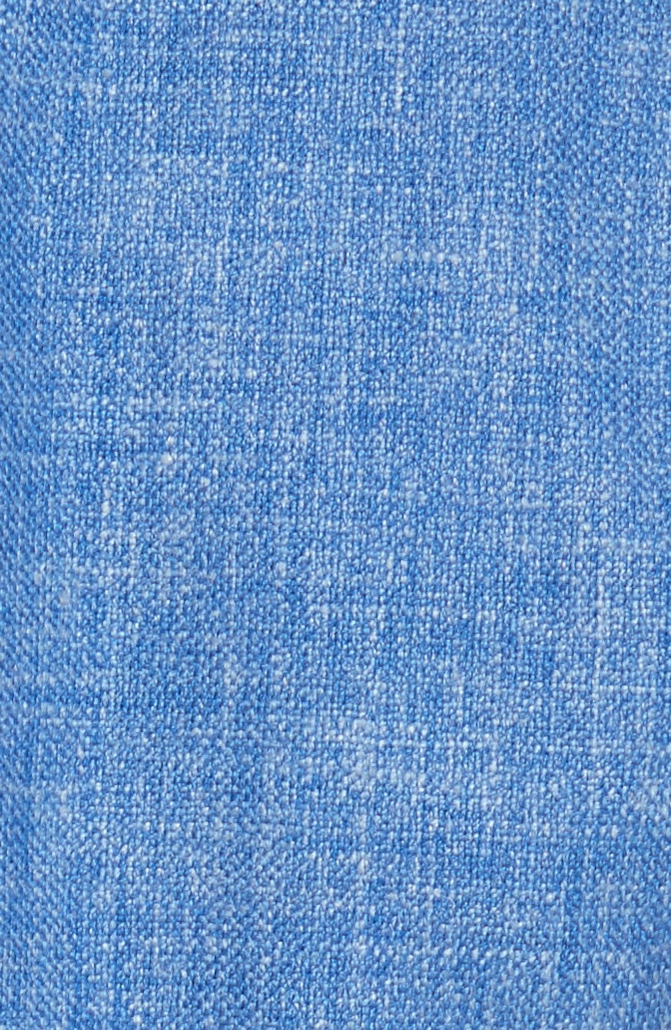 Caramba Silk, Linen & Wool Midi Dress,                             Alternate thumbnail 5, color,                             Cornflower Blue