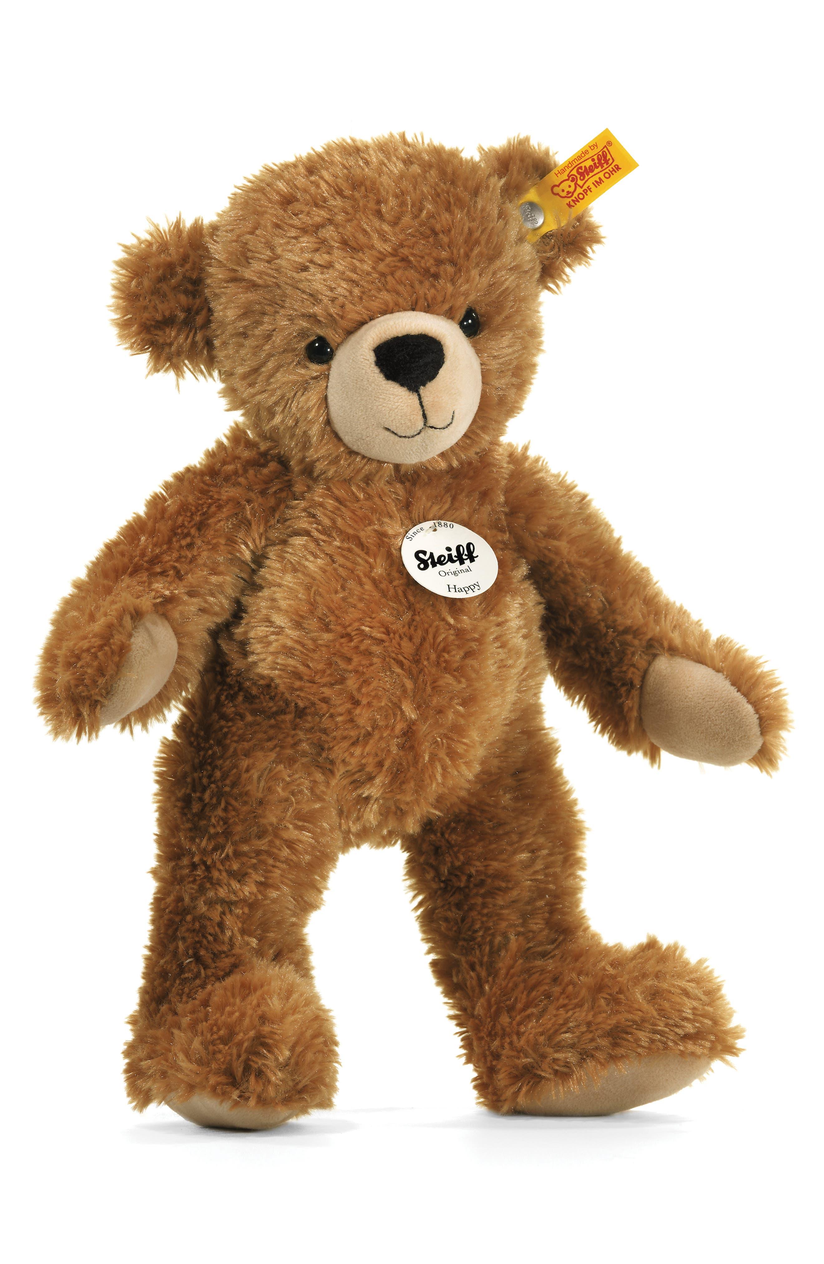 Happy Teddy Bear,                         Main,                         color, Light Brown