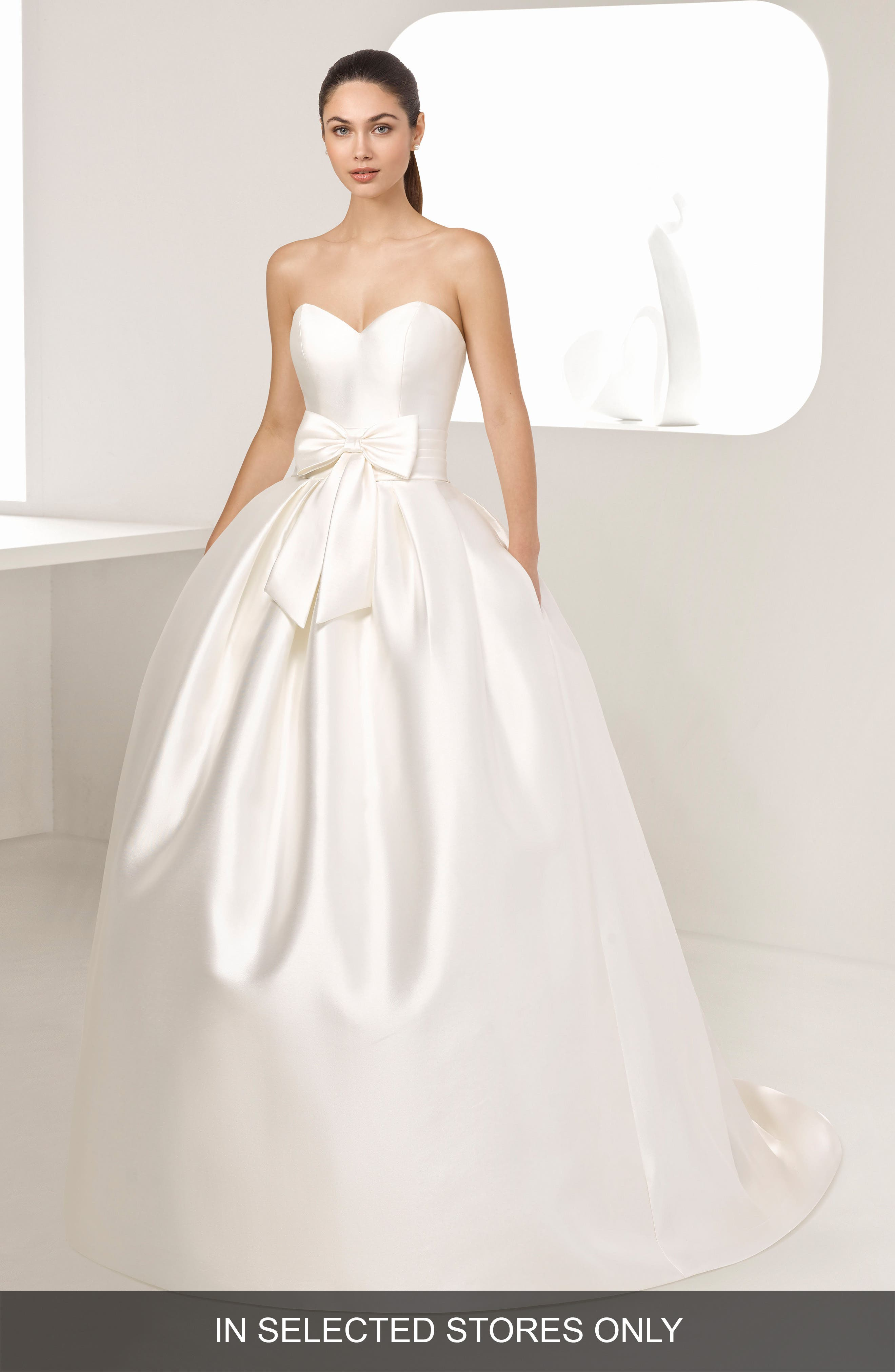 Enebro Strapless Mikado Gown,                         Main,                         color, Natural