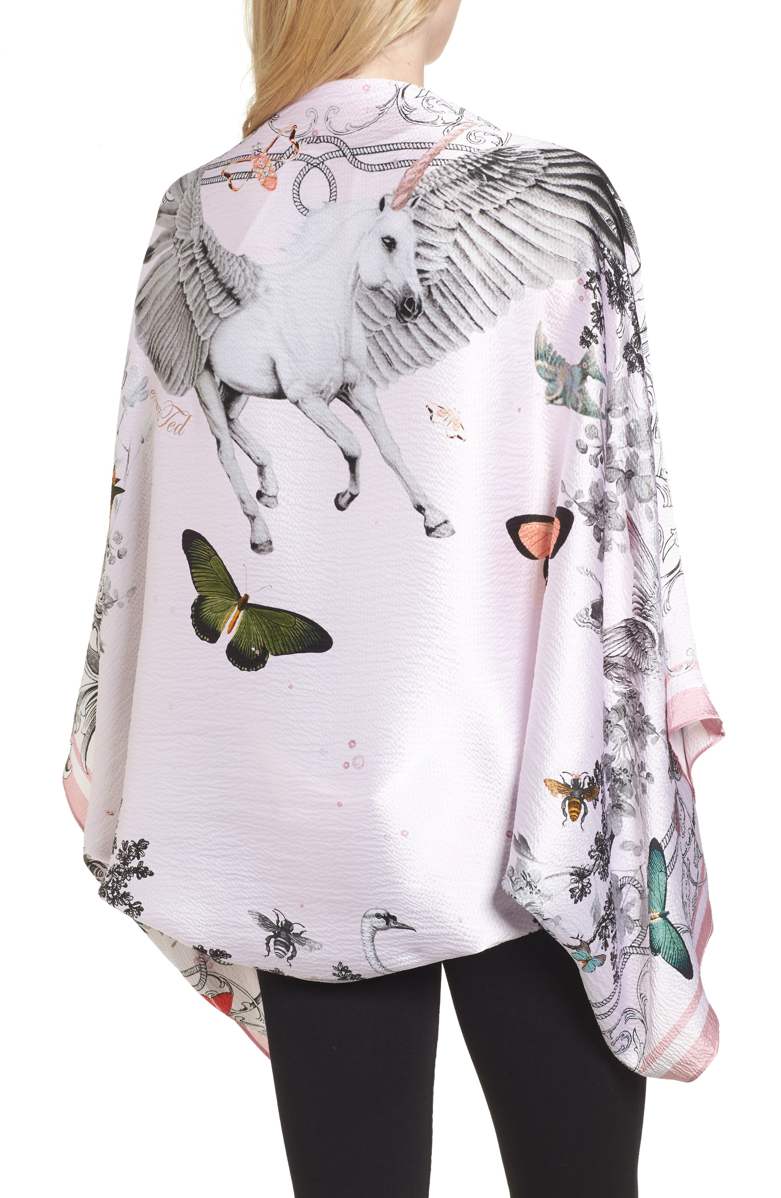 Alternate Image 2  - Ted Baker London Enchanted Dream Silk Cape Scarf