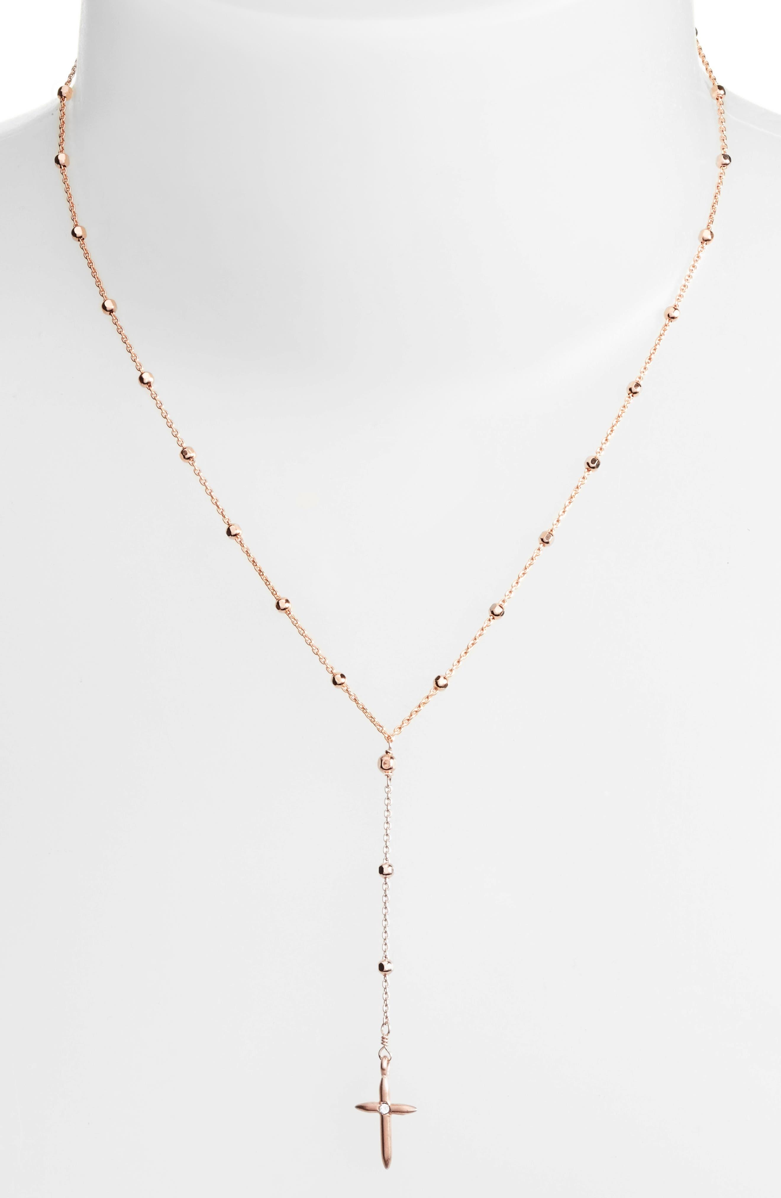 Alternate Image 2  - Dogeared Love & Faith Rosary Y-Necklace
