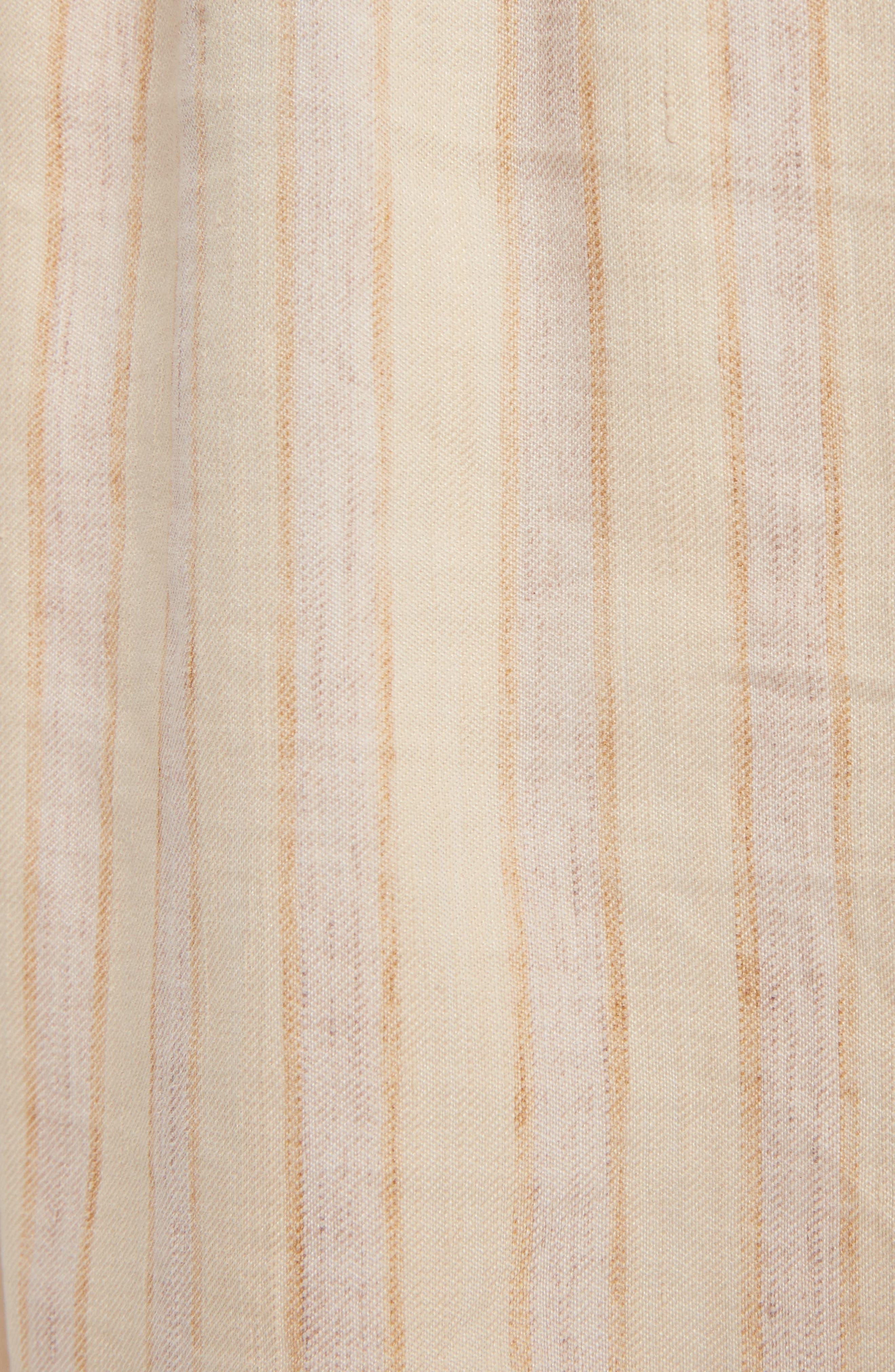 Michela Linen Blend Culottes,                             Alternate thumbnail 8, color,                             Natural/ Beige Mix