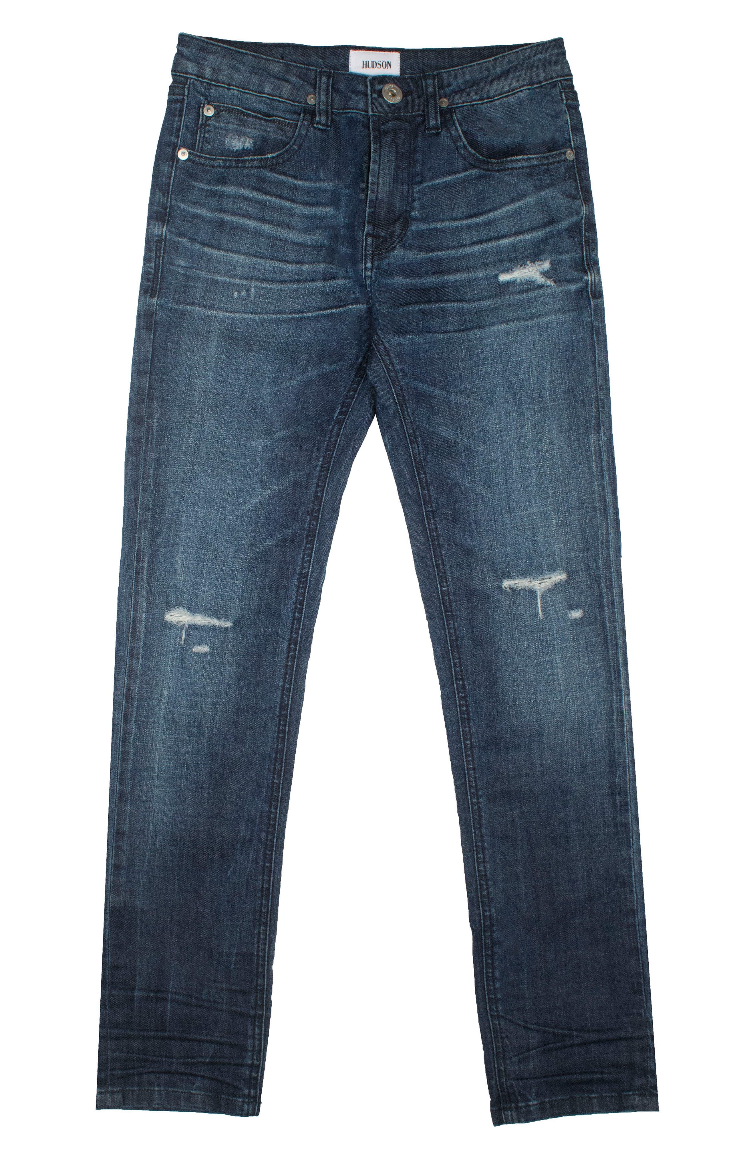 Hudson Kids Jude Skinny Jeans (Storm) (Baby Boys)