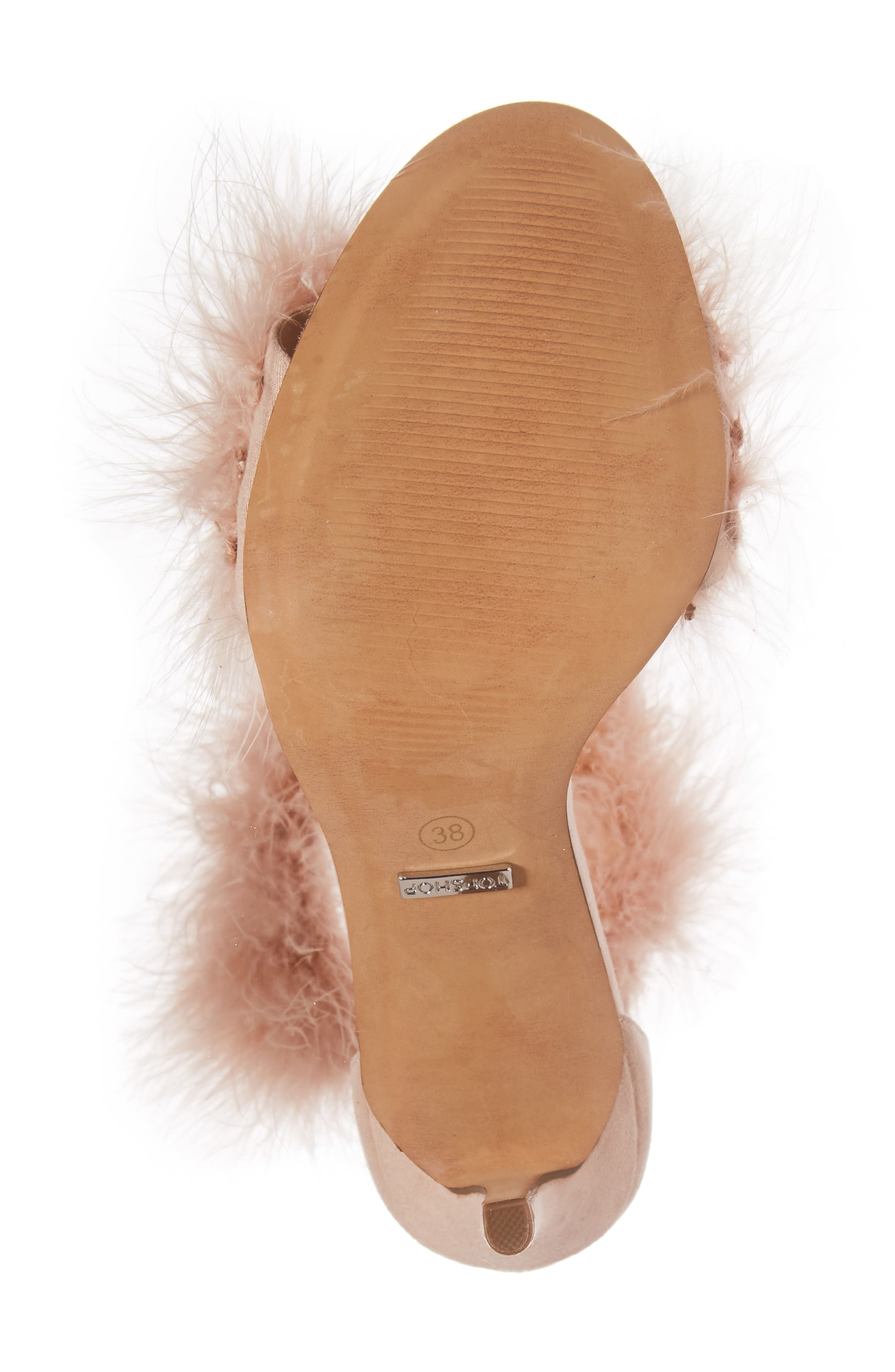 Feather Strap Sandal,                             Alternate thumbnail 6, color,                             Nude