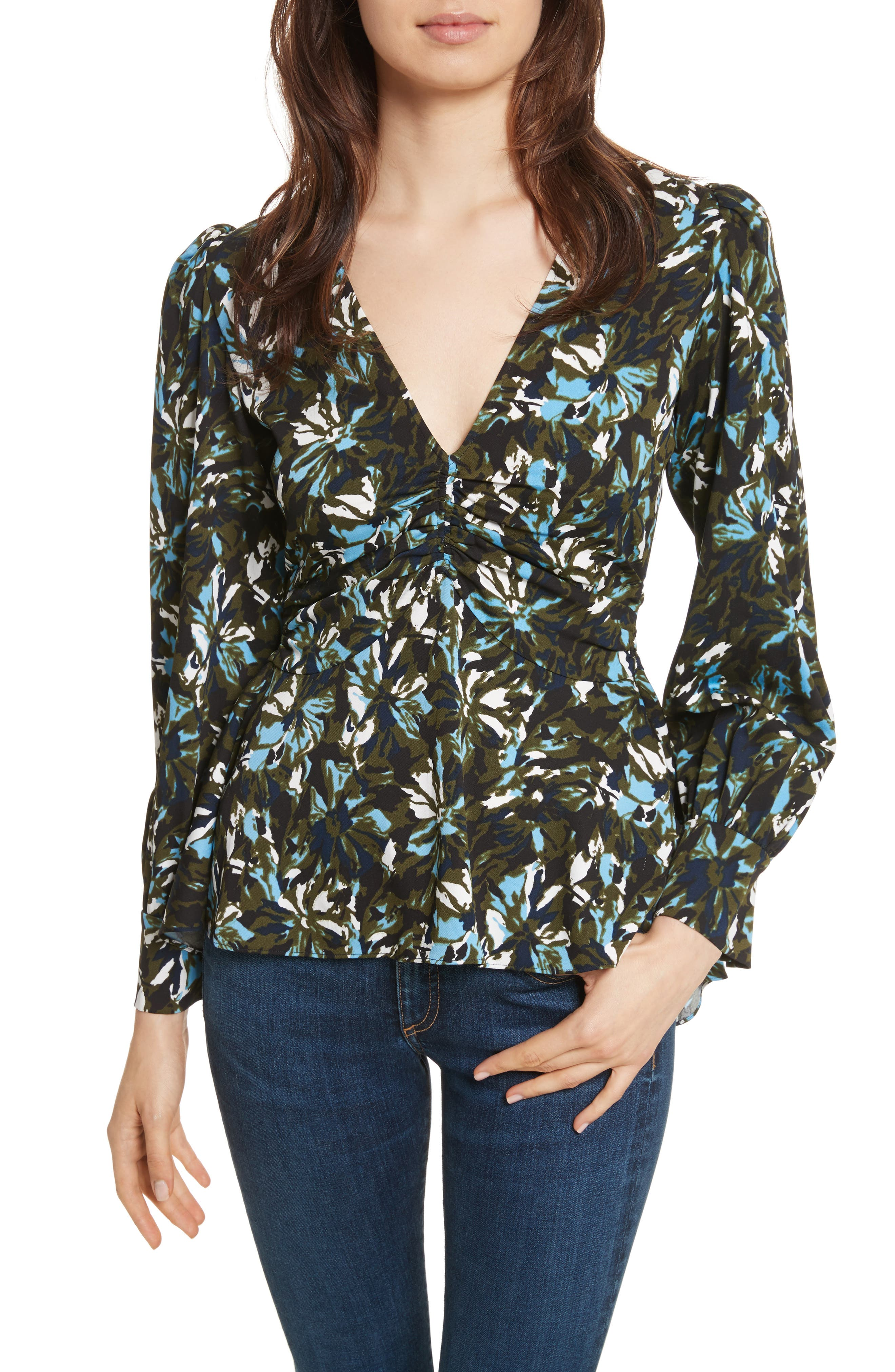 Veronica Beard Oakley Silk Top