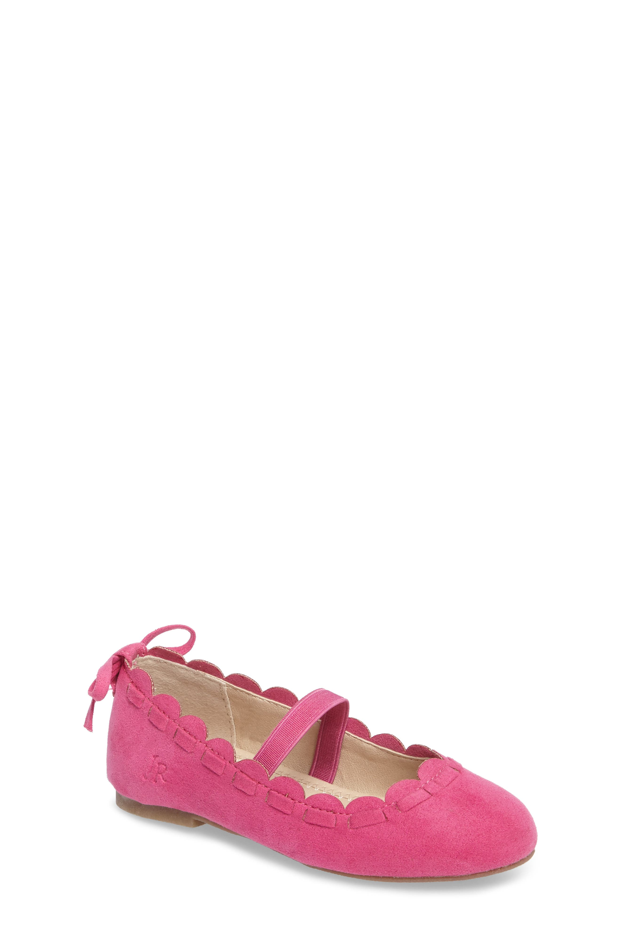 Alternate Image 1 Selected - Jack Rogers Little Miss Lucie Scalloped Mary Jane Flat (Walker & Toddler)