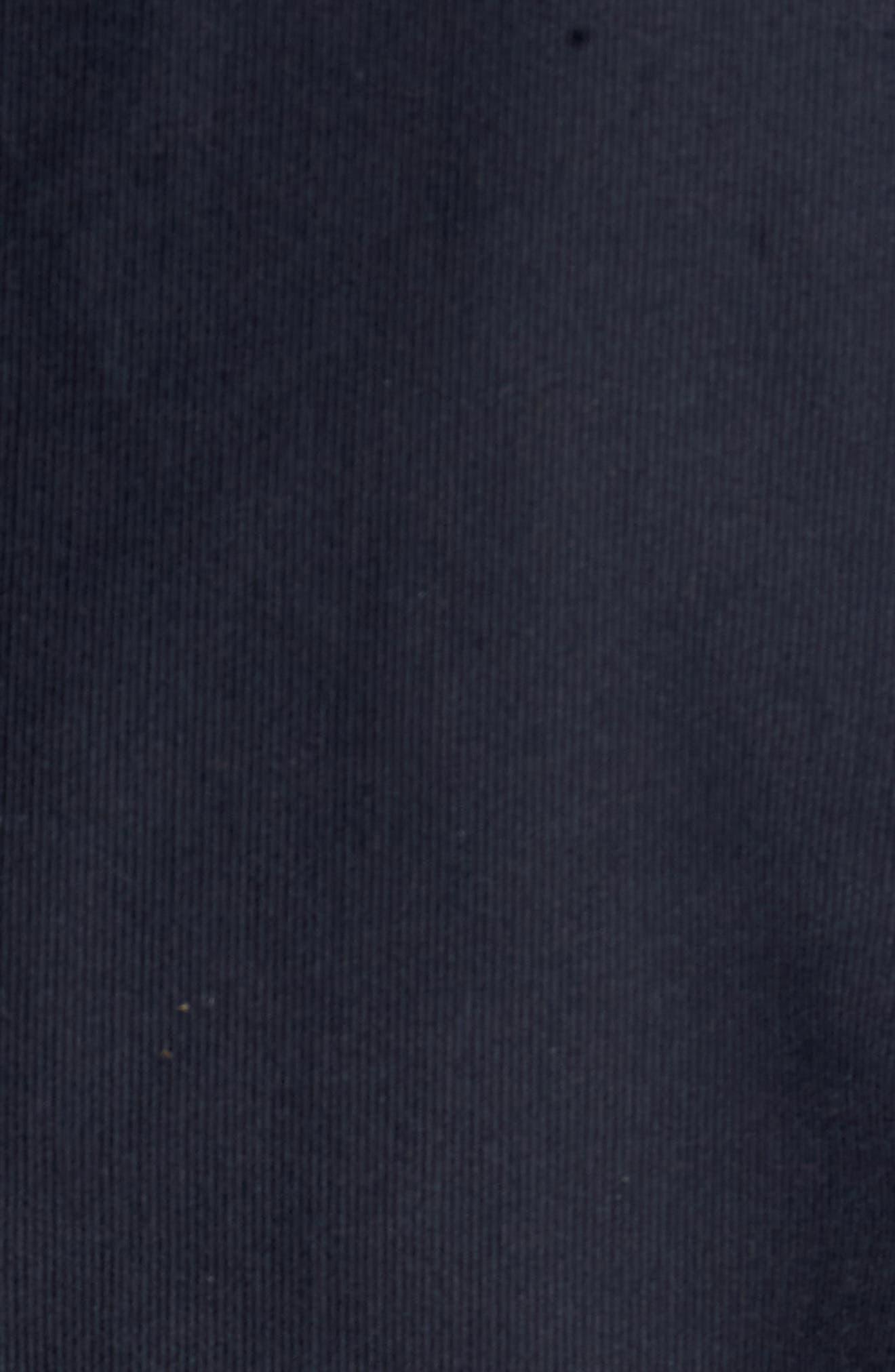 Bedford Corduroy Goose Down Jacket with Faux Fur Trim,                             Alternate thumbnail 5, color,                             Navy