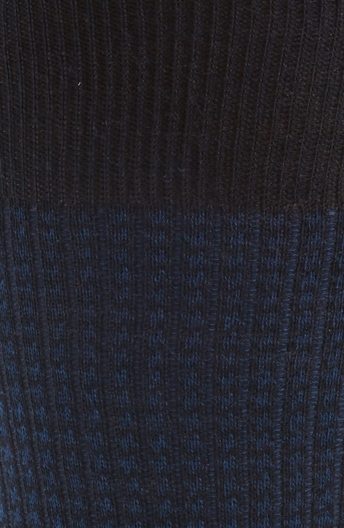Houndstooth Wool Blend Socks,                             Alternate thumbnail 2, color,                             Navy