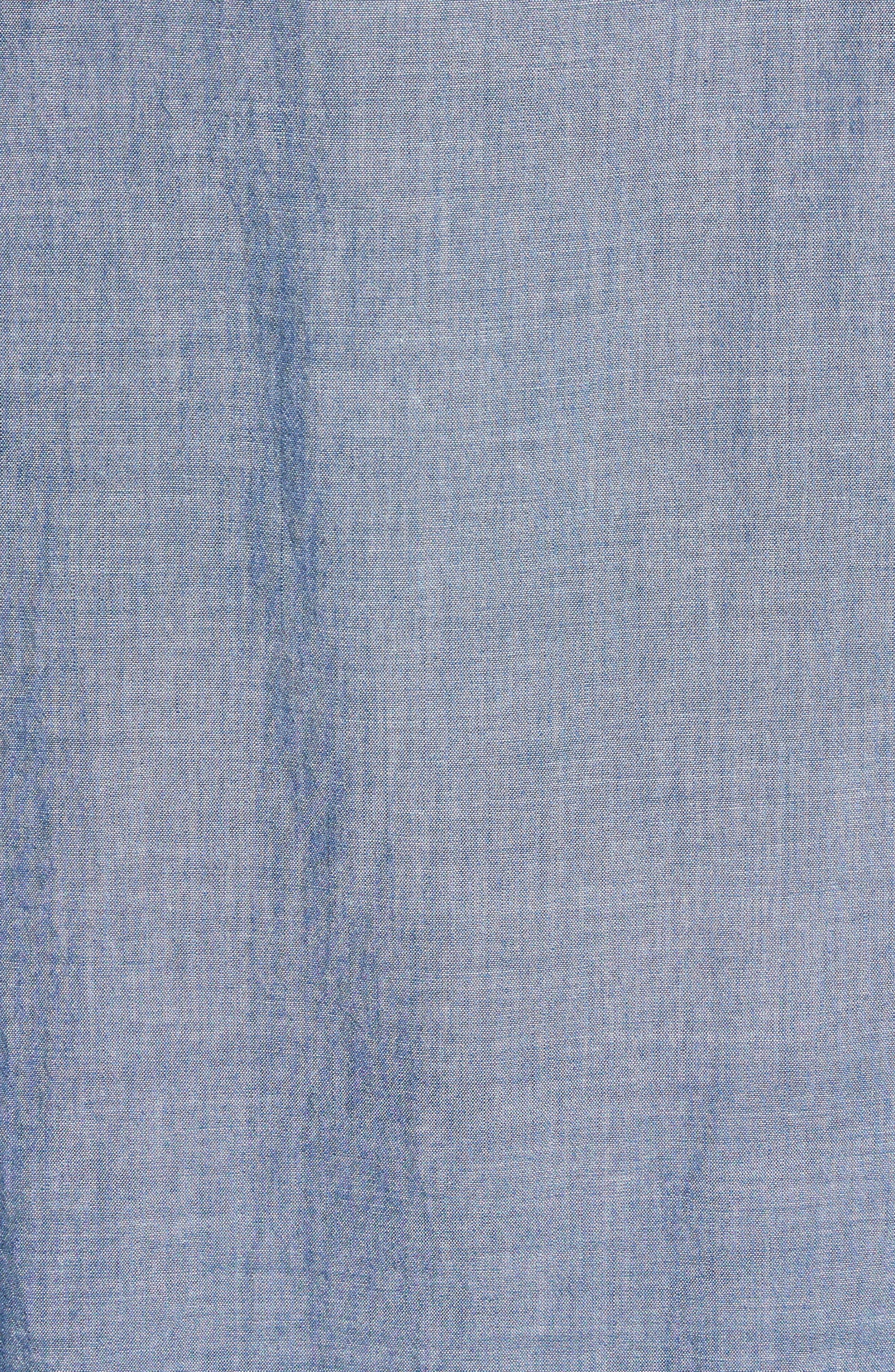 Chambray Shirt,                             Alternate thumbnail 5, color,                             Indigo Chambray