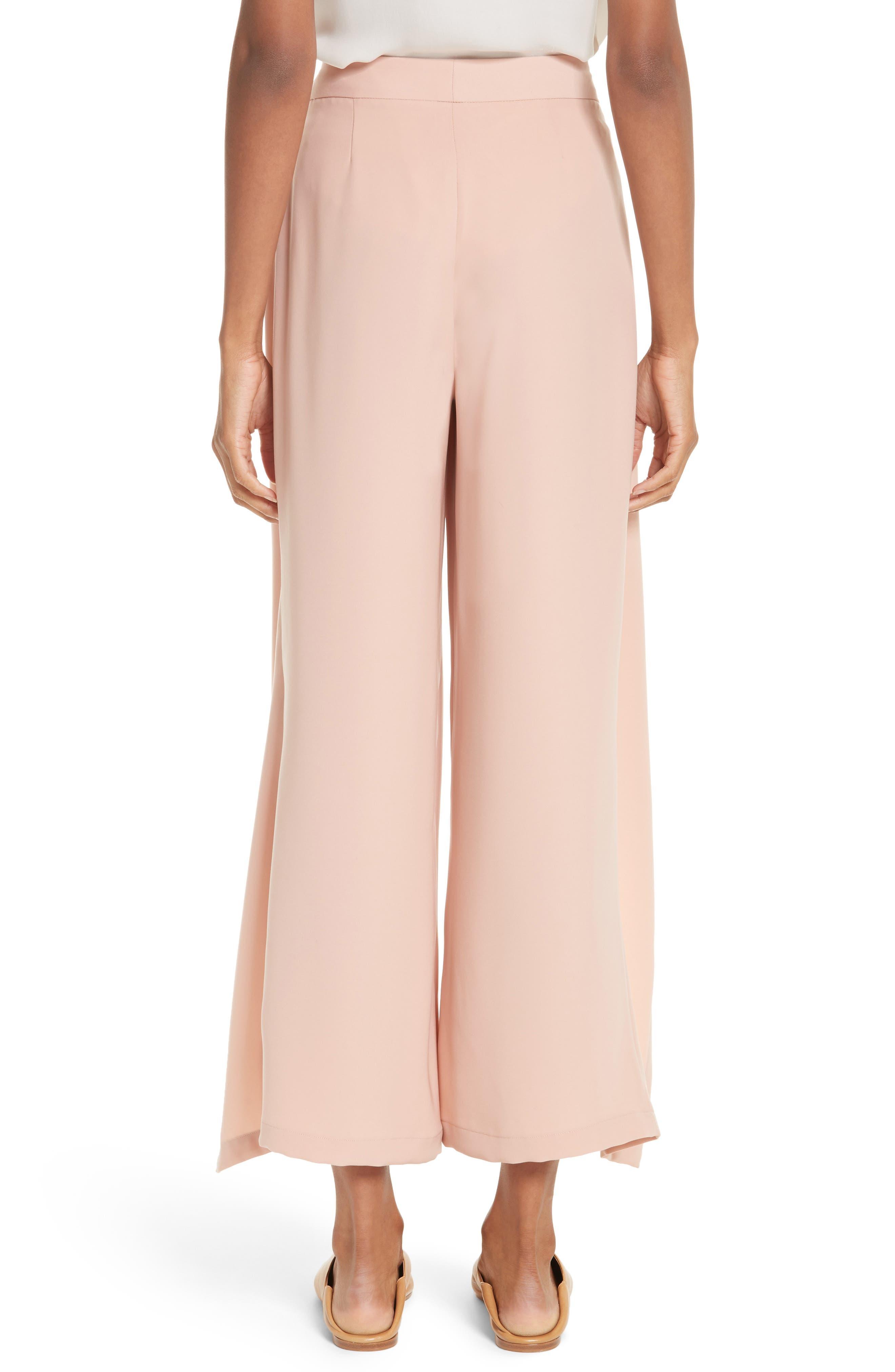 Tie Front Wrap Pants,                             Alternate thumbnail 2, color,                             Blush Pink