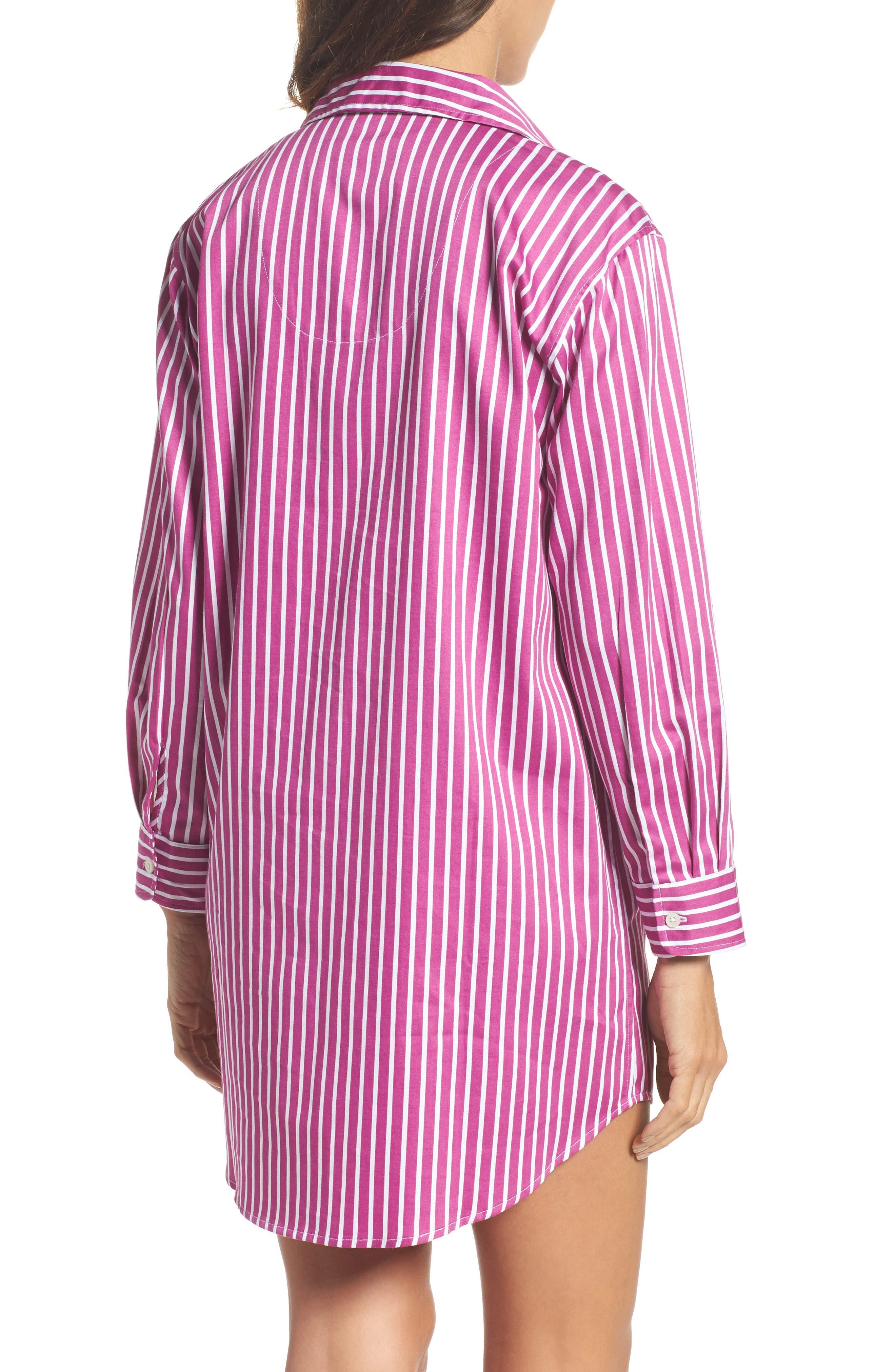 Sleep Shirt,                             Alternate thumbnail 2, color,                             Pink/ White Stripe