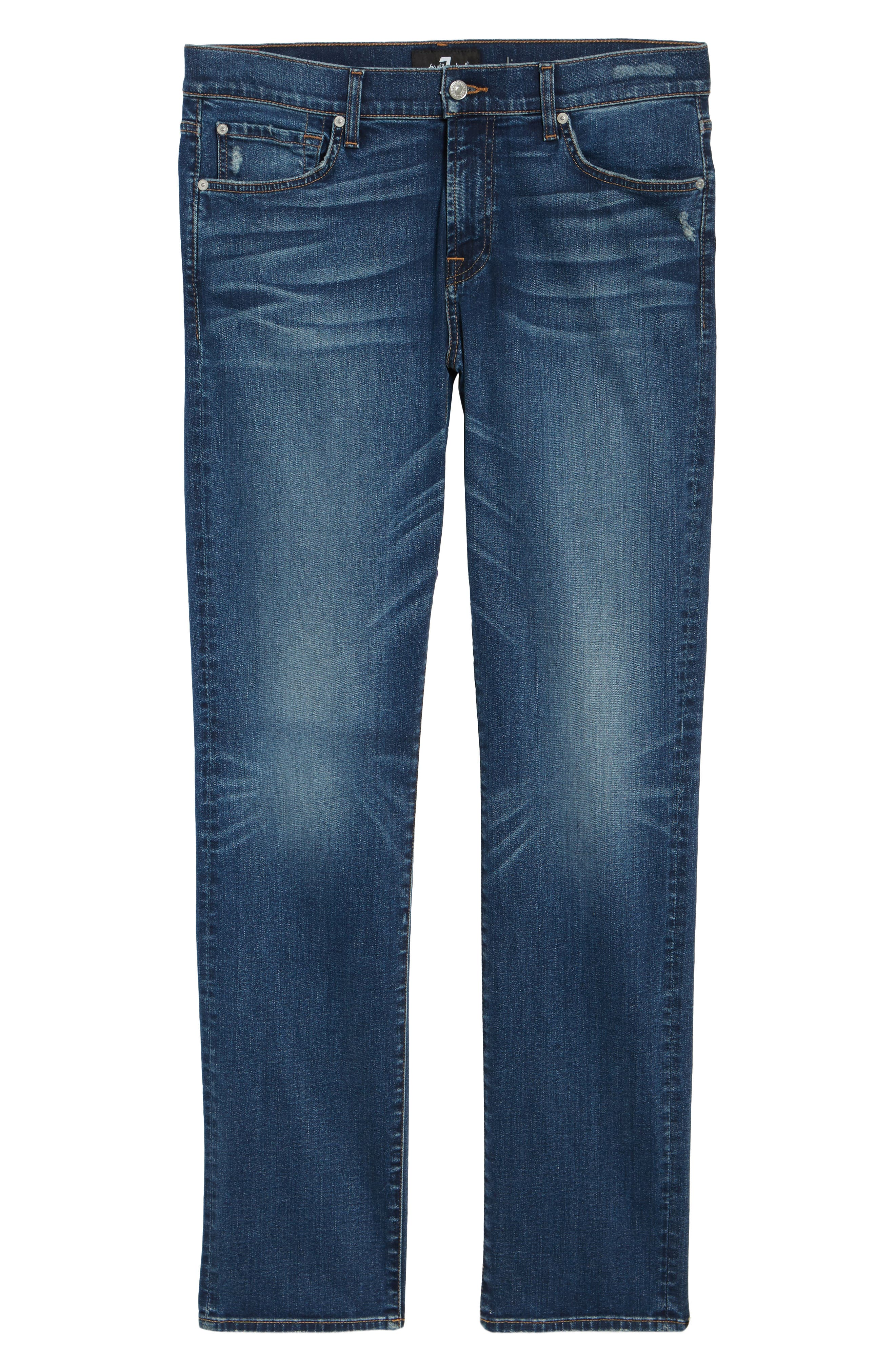 Alternate Image 6  - 7 For All Mankind® Slimmy Slim Fit Jeans (Union)