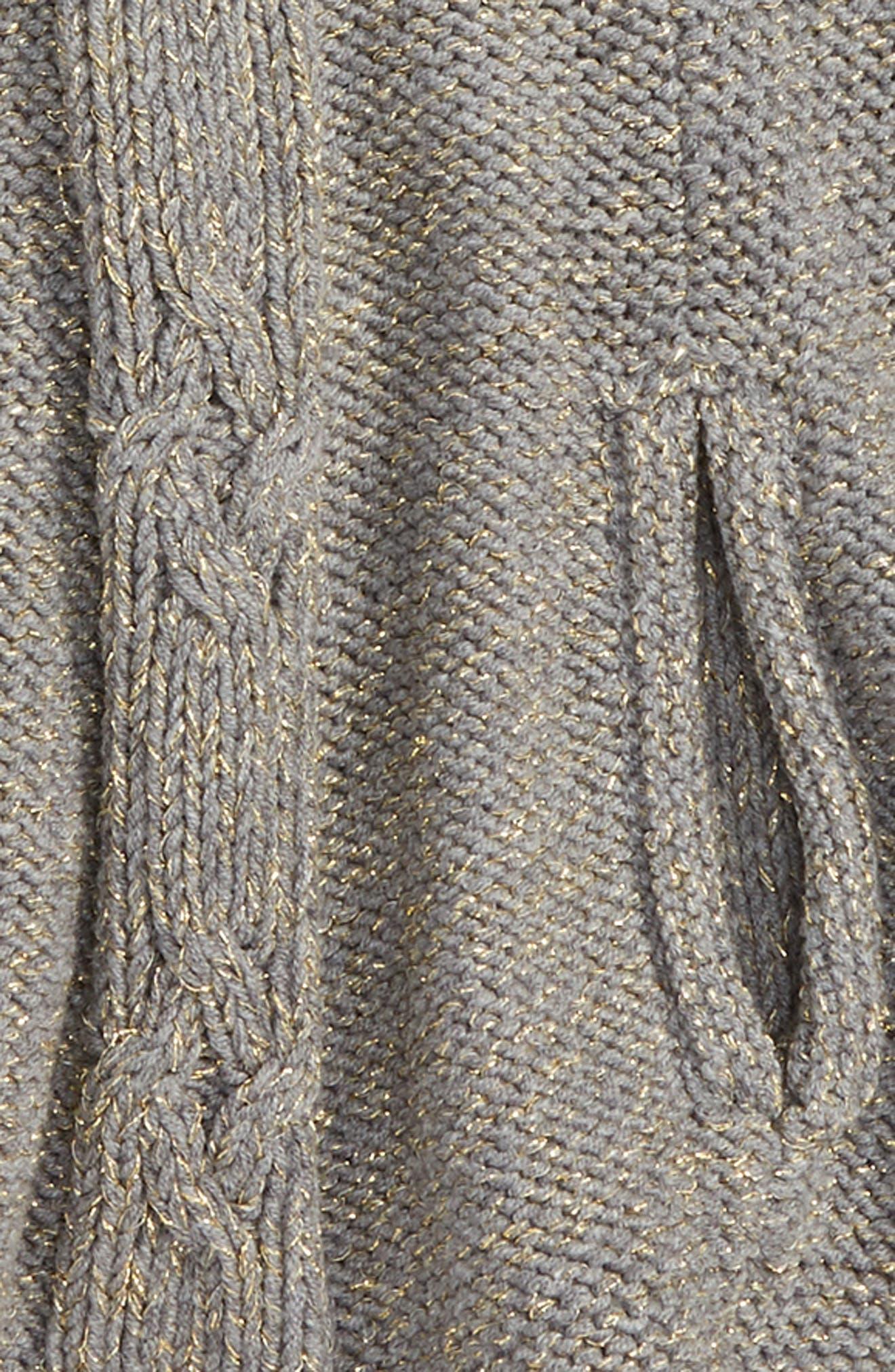 Isobel Sweater Cape,                             Alternate thumbnail 2, color,                             Dark Grey Heather