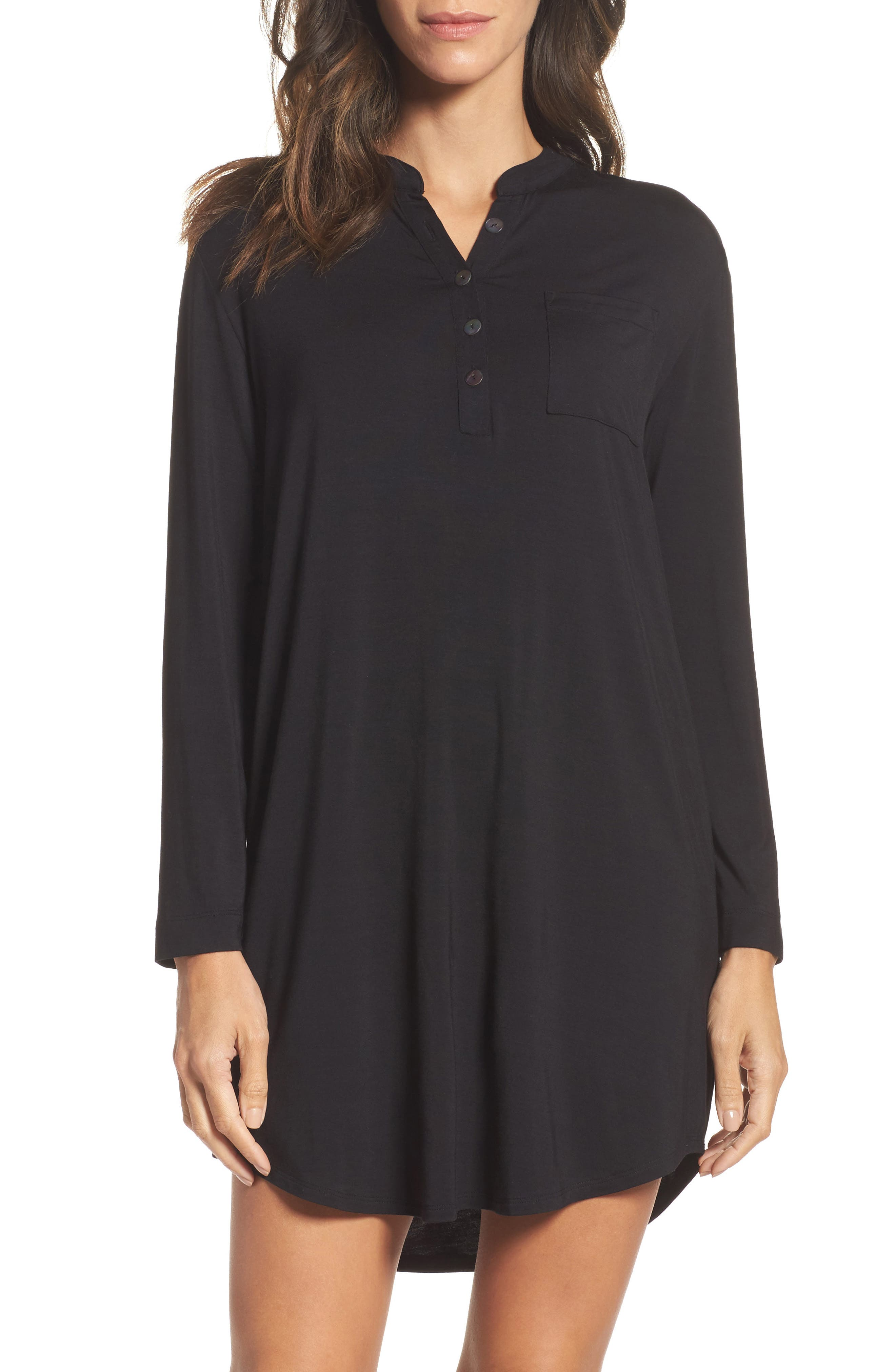Midnight by Carole Hochman Jersey Sleep Shirt