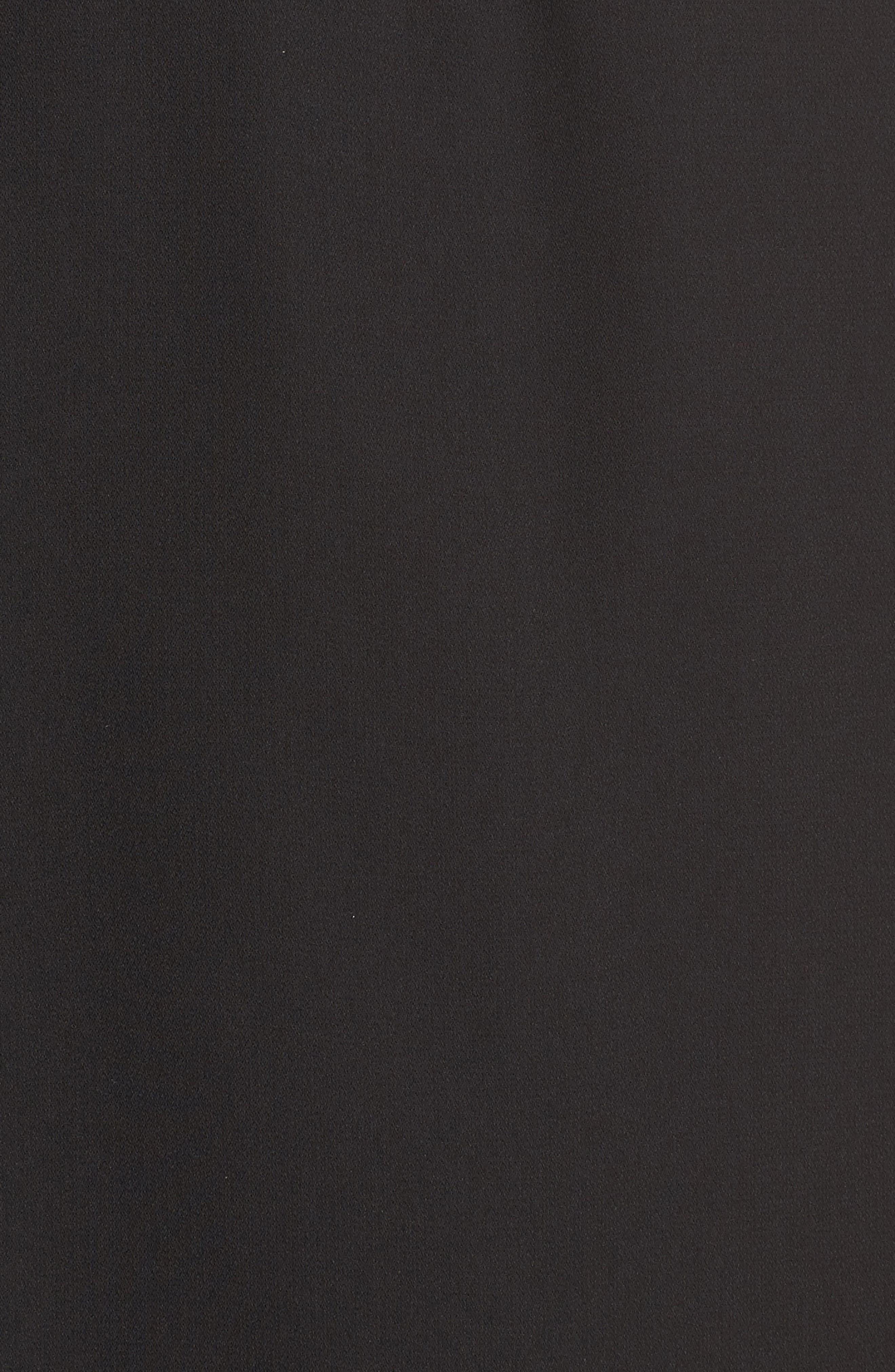 Muse Off the Shoulder Minidress,                             Alternate thumbnail 6, color,                             Black