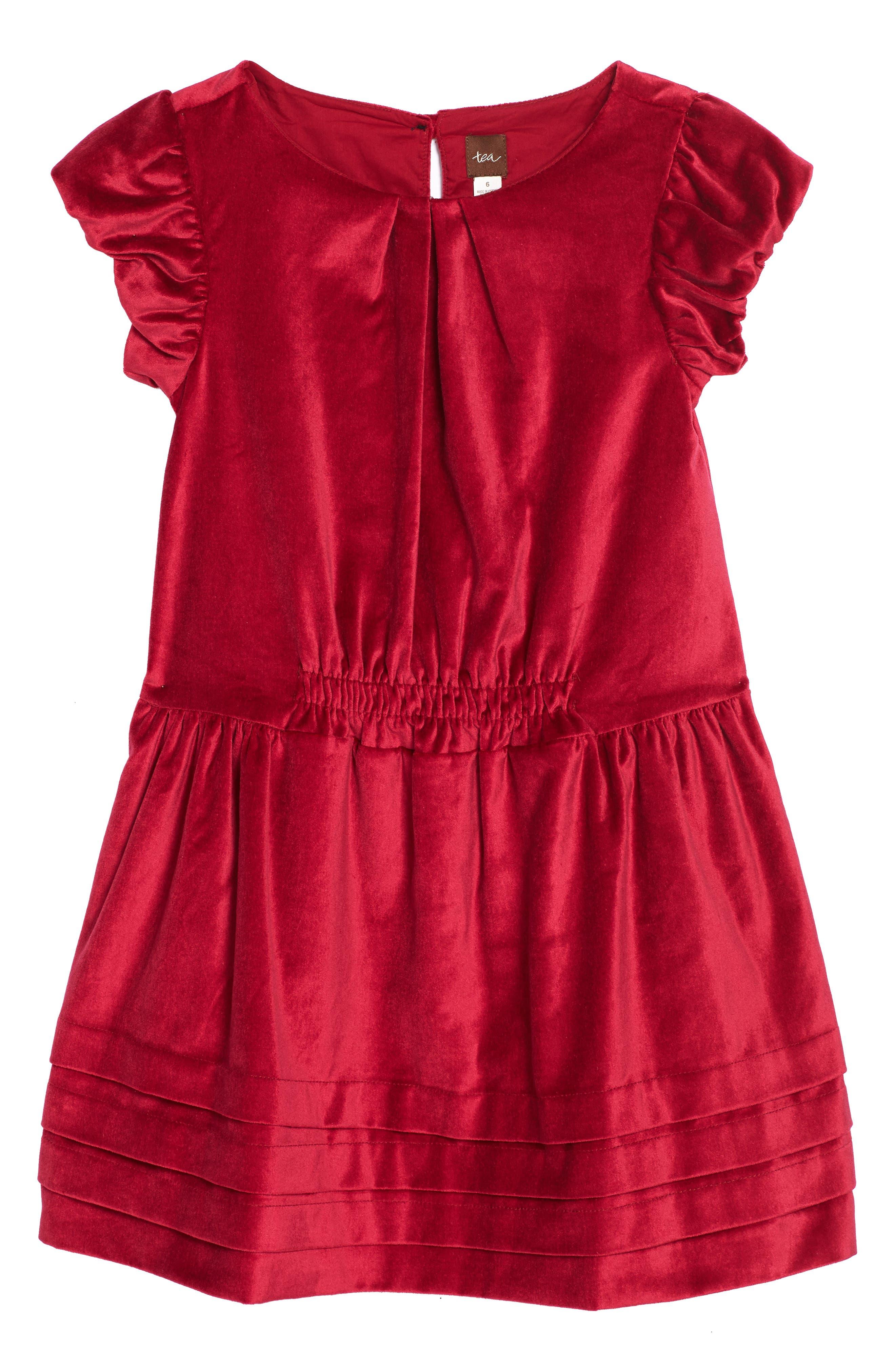 Tea Collection Dunrobin Velveteen Dress (Toddler Girls, Little Girls & Big Girls)