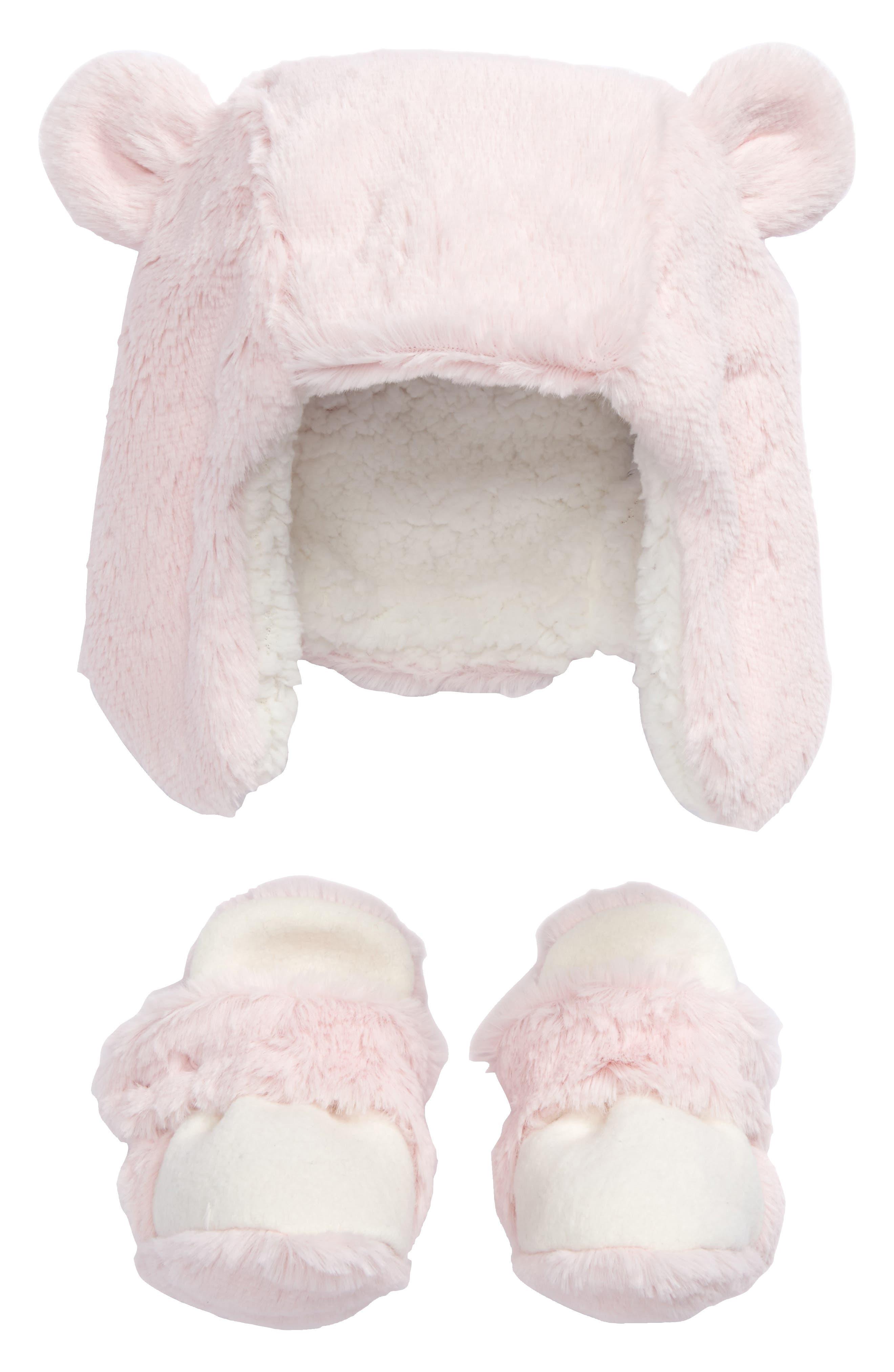 Nordstrom Baby Faux Fur Hat & Bootie Set (Baby)