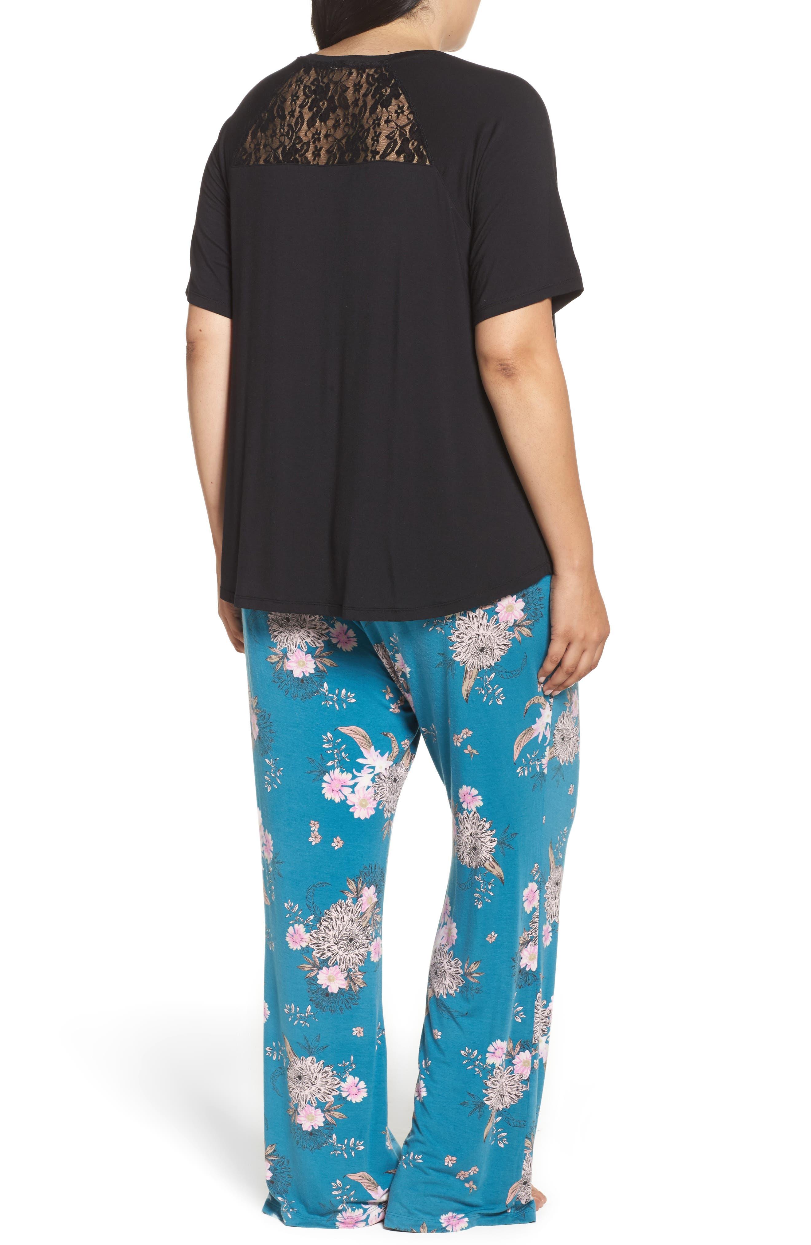 Pajamas,                             Alternate thumbnail 3, color,                             Teal