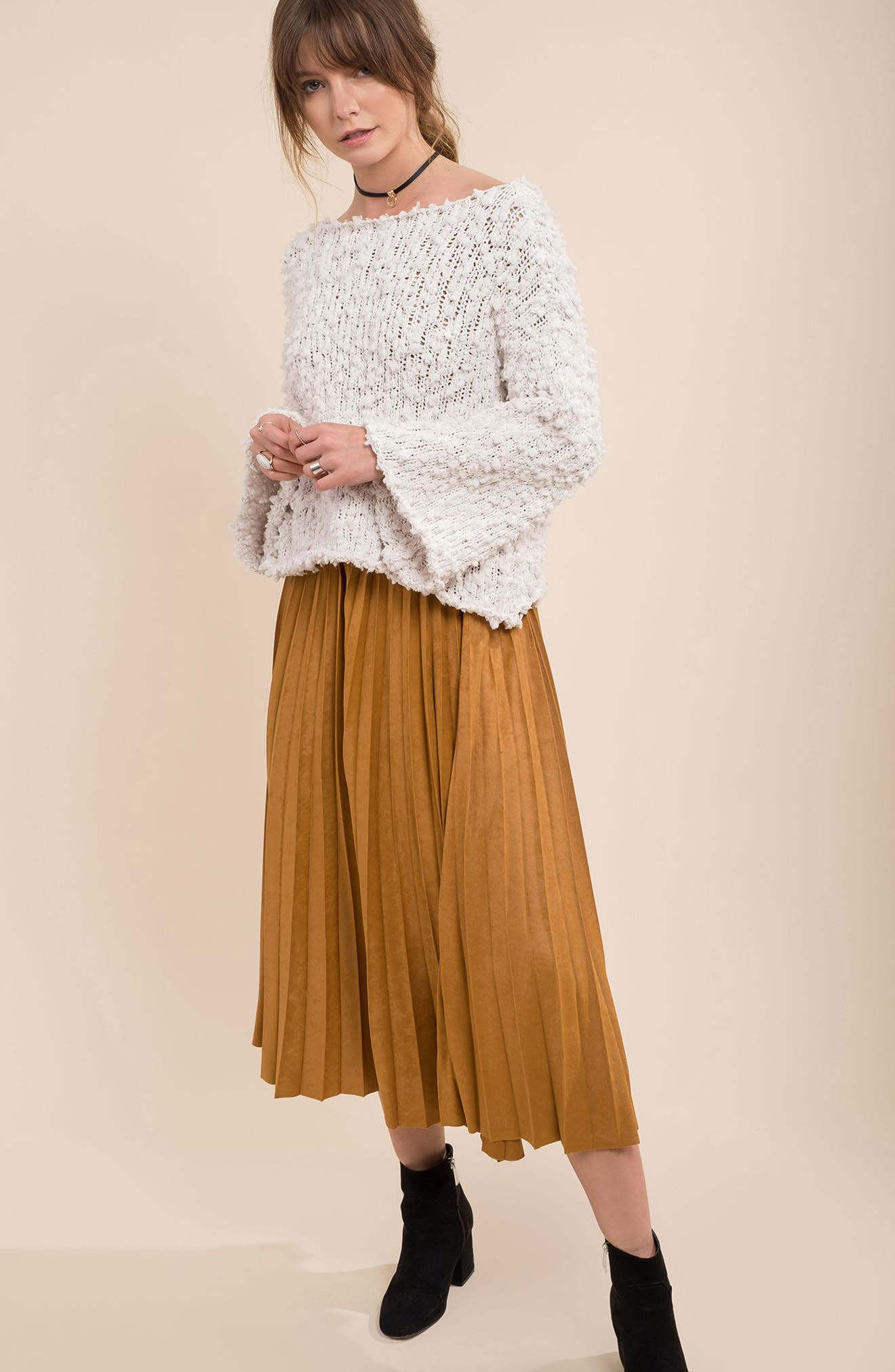 Alternate Image 2  - MOON RIVER Nubby Boatneck Sweater