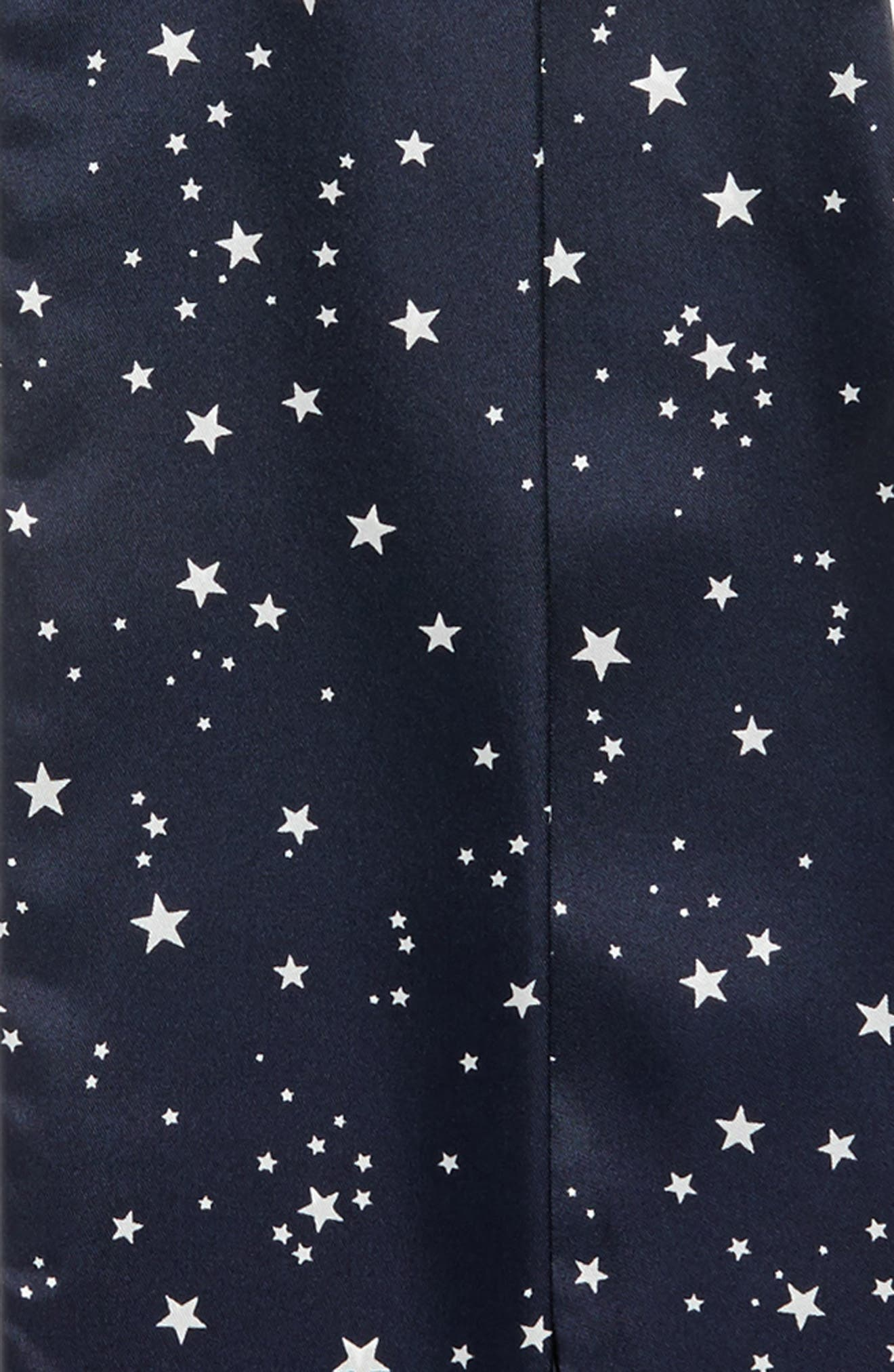 medium night sky skinny silk scarf,                             Alternate thumbnail 3, color,                             Rich Navy