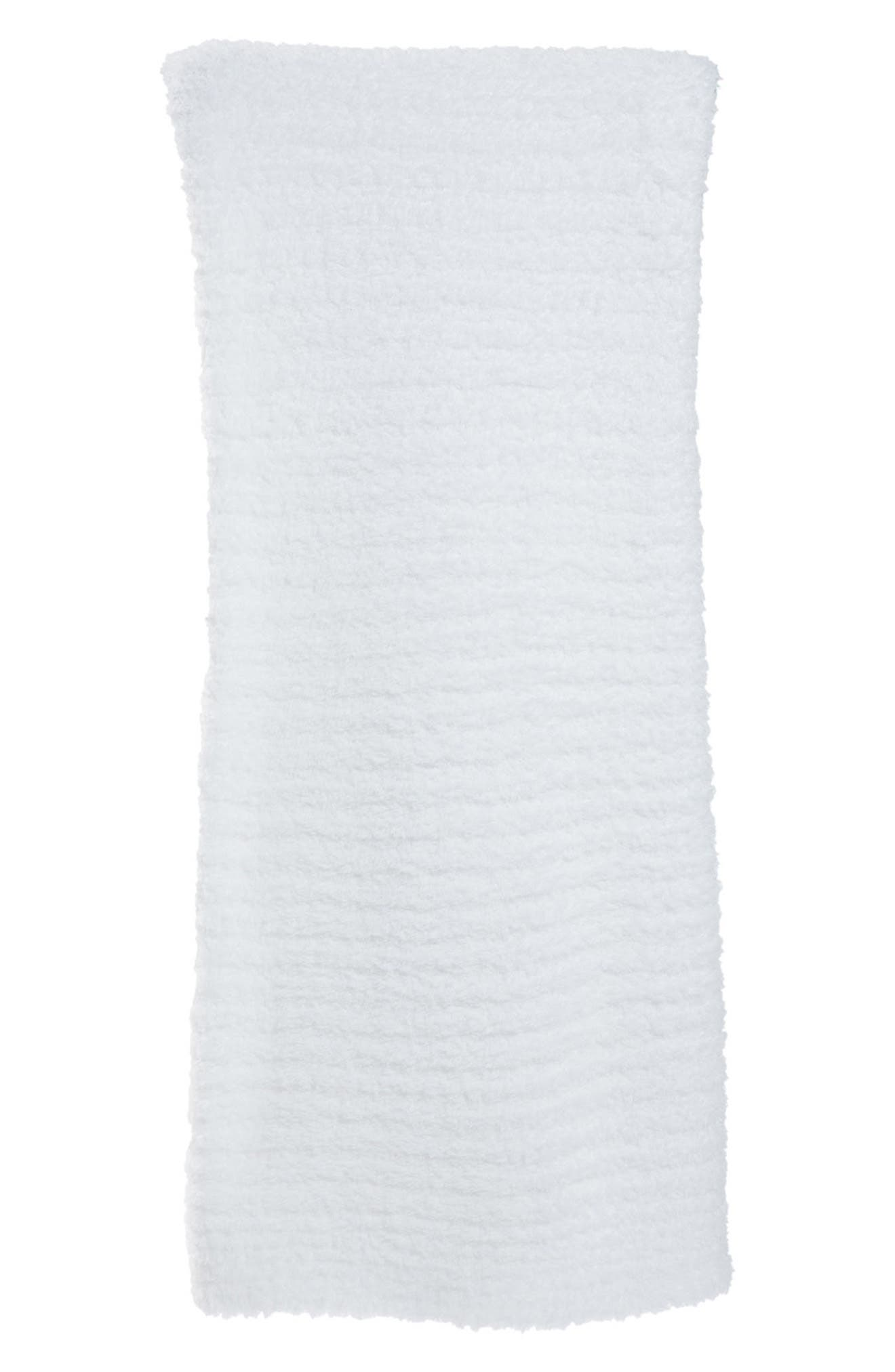 'CozyChic<sup>®</sup>' Ribbed Throw Blanket,                             Main thumbnail 1, color,                             White