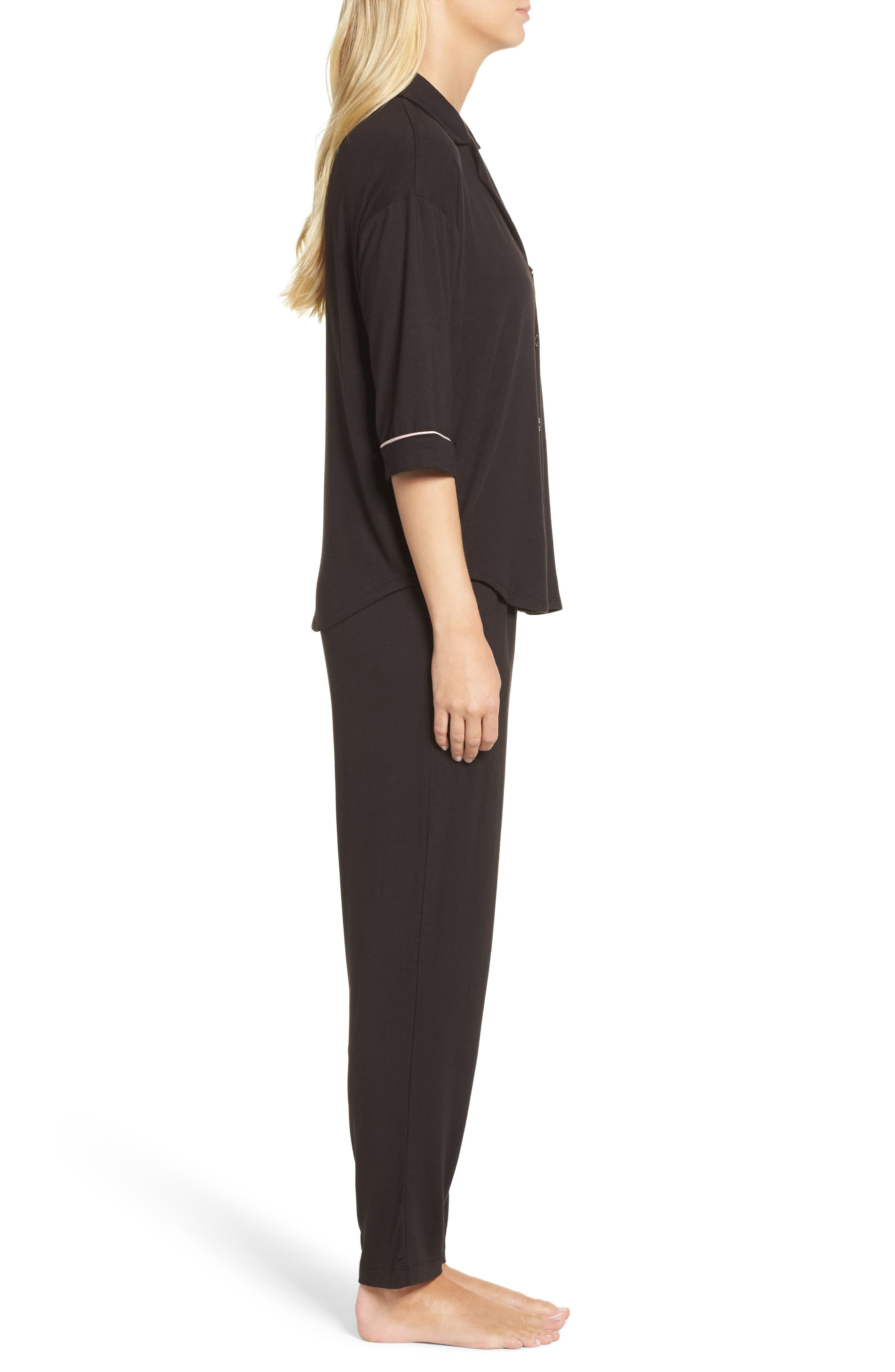 Alternate Image 3  - DKNY Jersey Pajamas