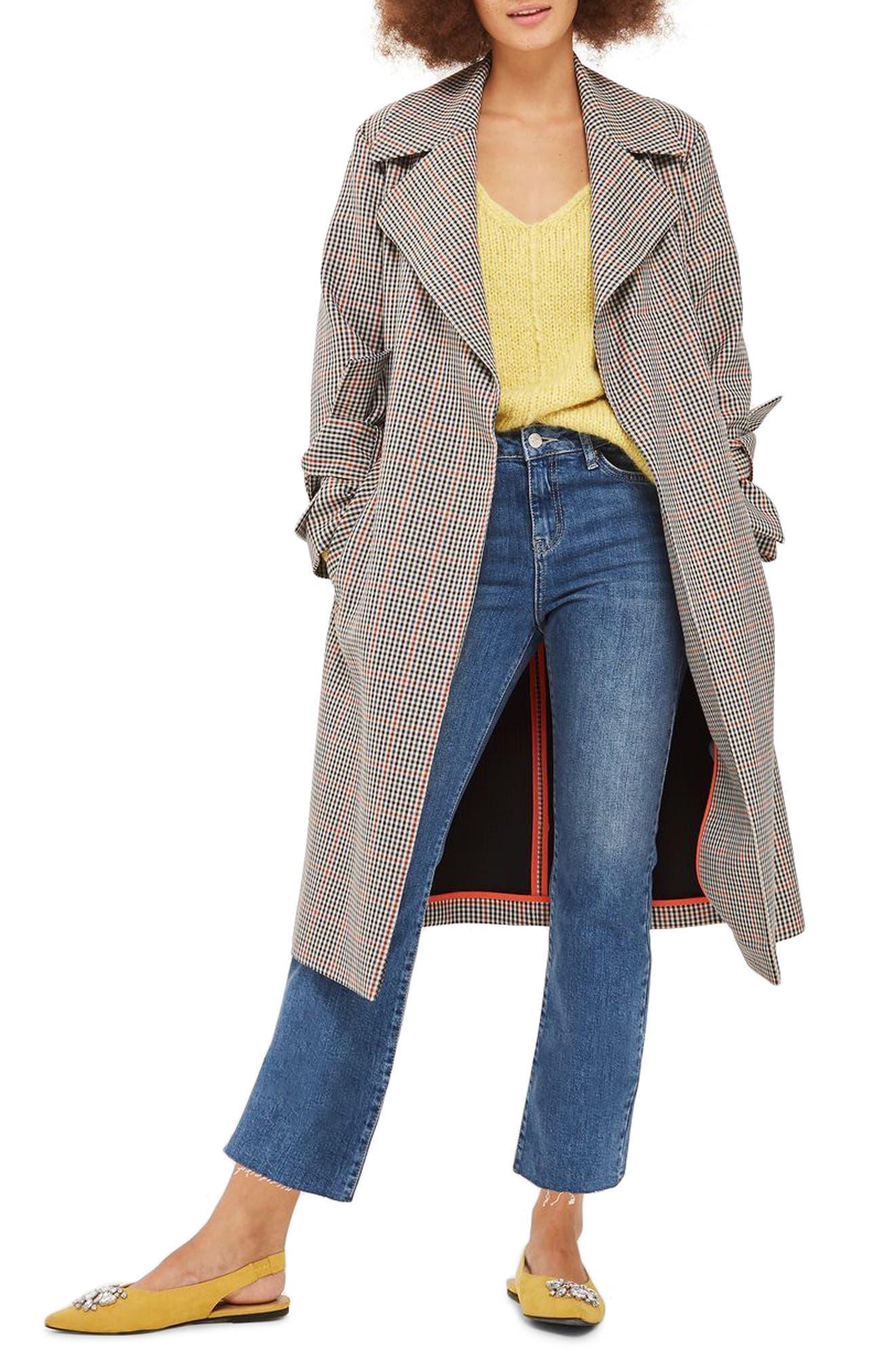 Dree Raw Hem Crop Jeans,                         Main,                         color, Mid Stone